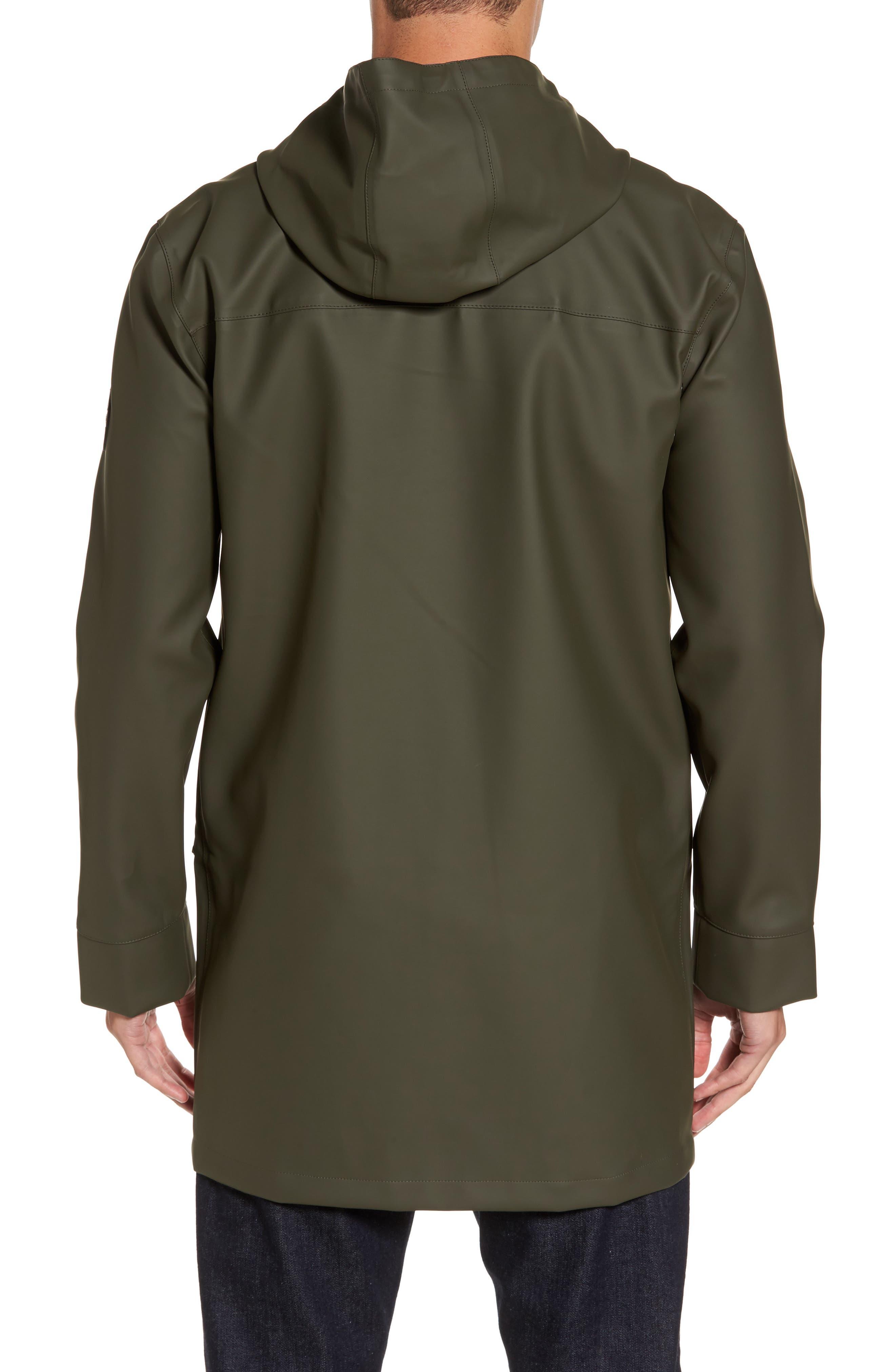 Hooded Raincoat,                             Alternate thumbnail 2, color,                             Olive