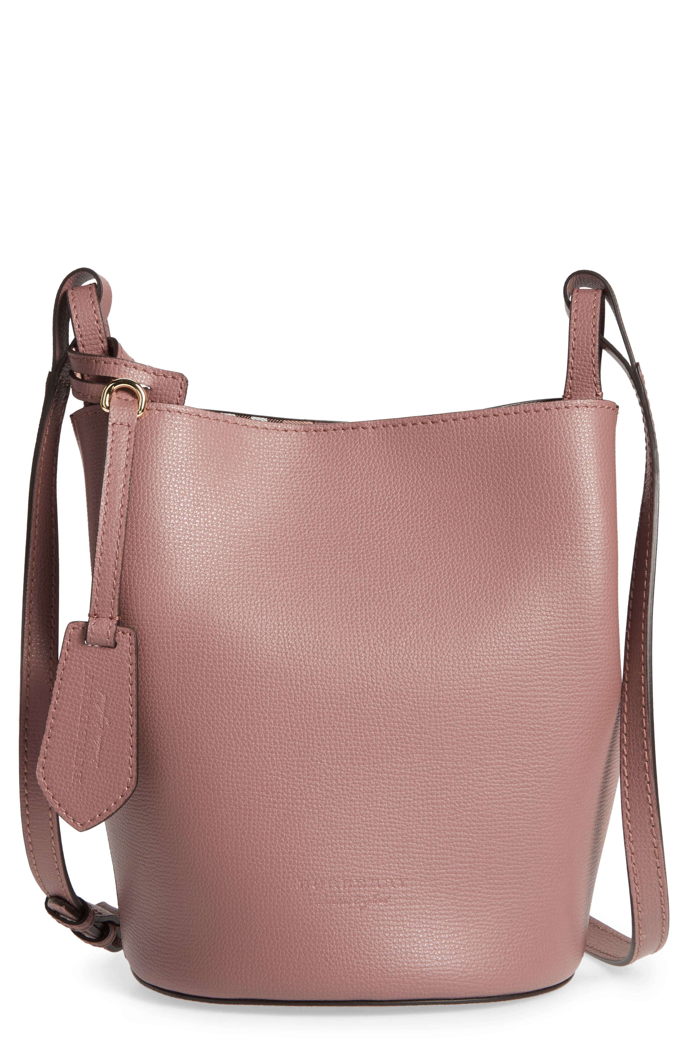 Burberry Small Lorne Leather Bucket Bag