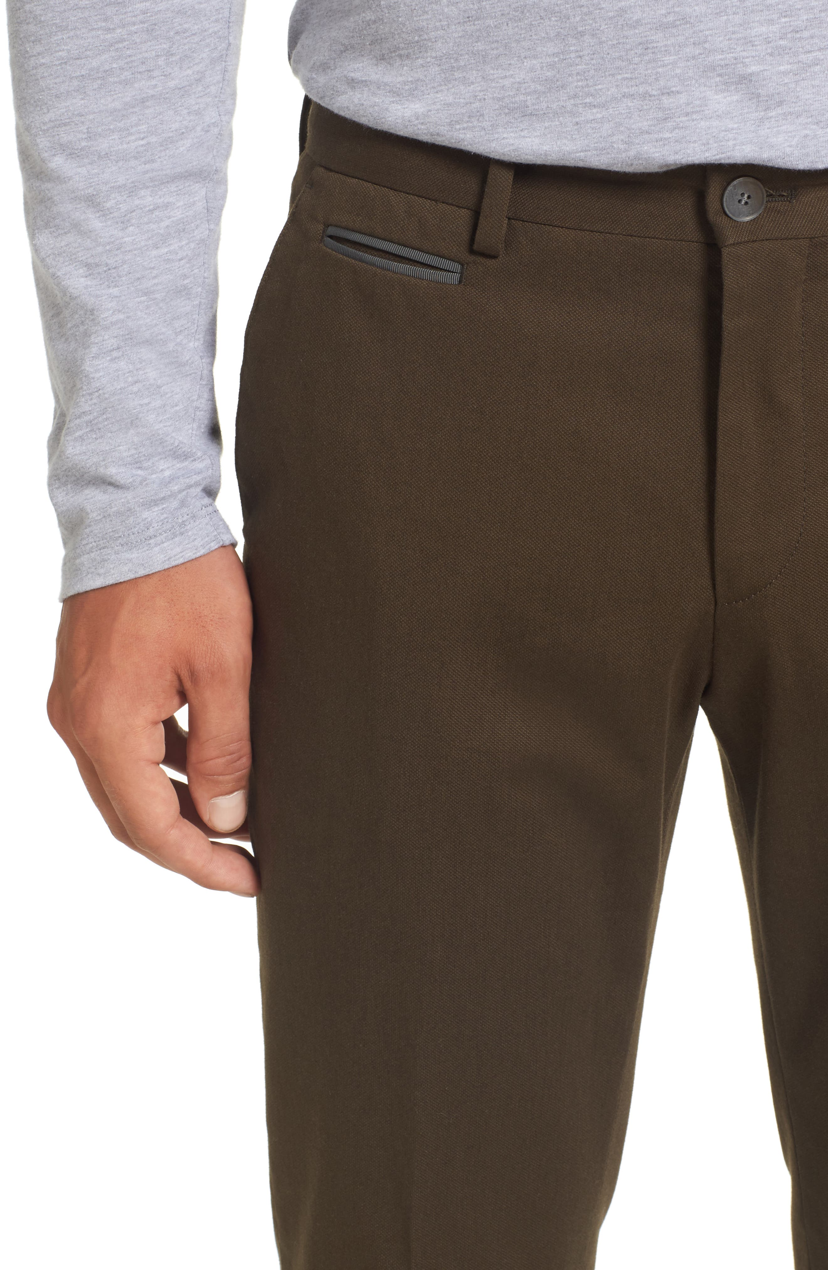 Batho-W Regular Fit Trousers,                             Alternate thumbnail 4, color,                             Open Green