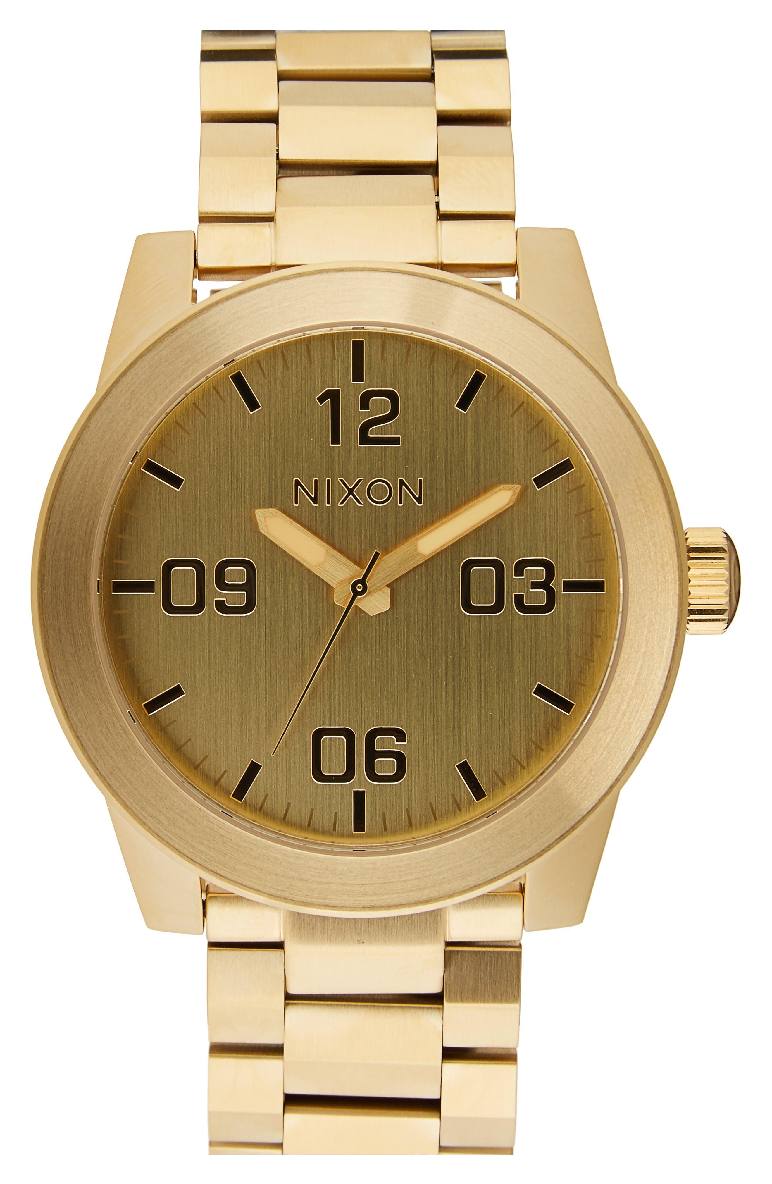 Alternate Image 1 Selected - Nixon 'The Corporal' Bracelet Watch, 48mm
