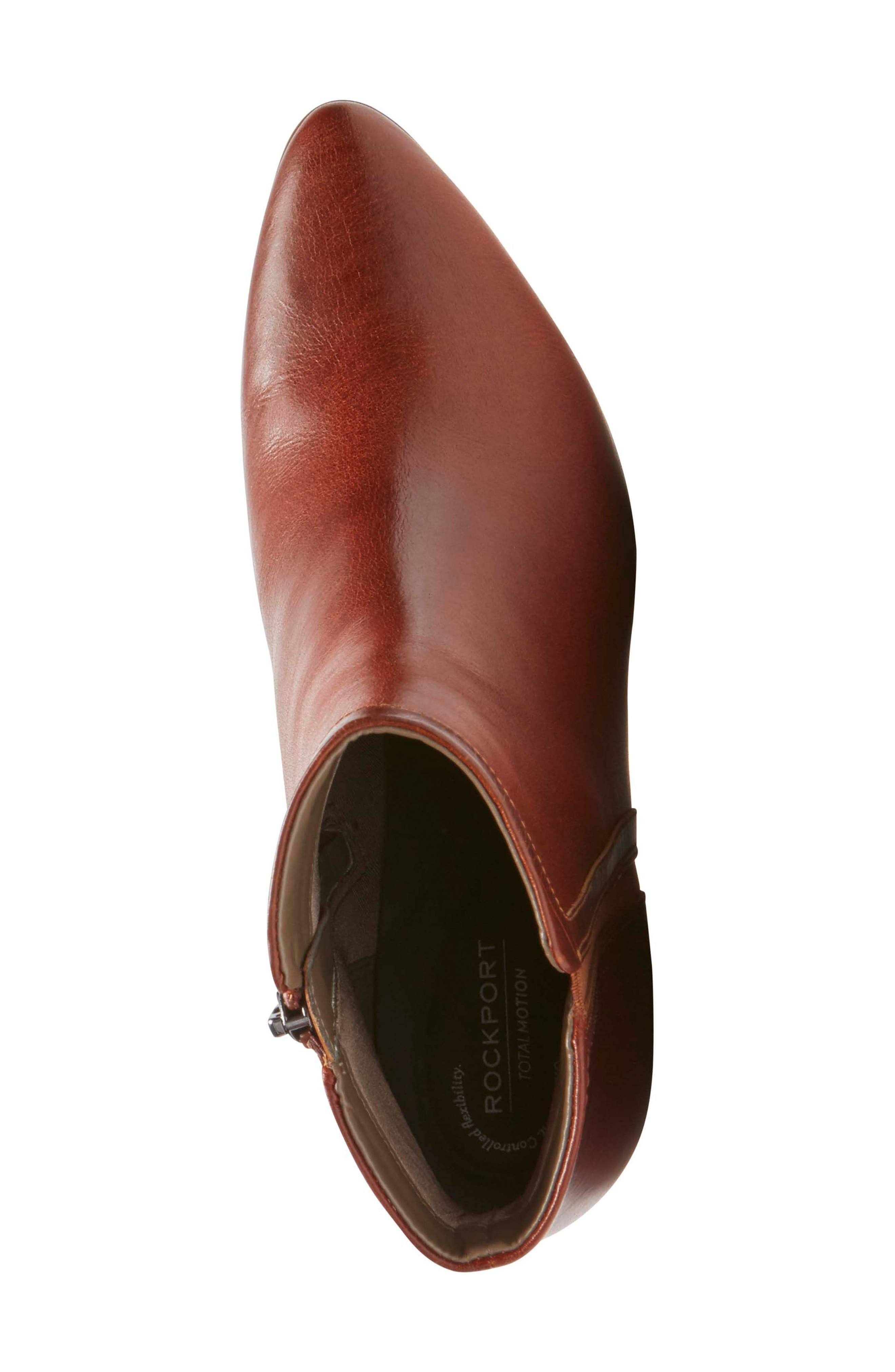 Lynix Luxe Bootie,                             Alternate thumbnail 5, color,                             Saddle Leather