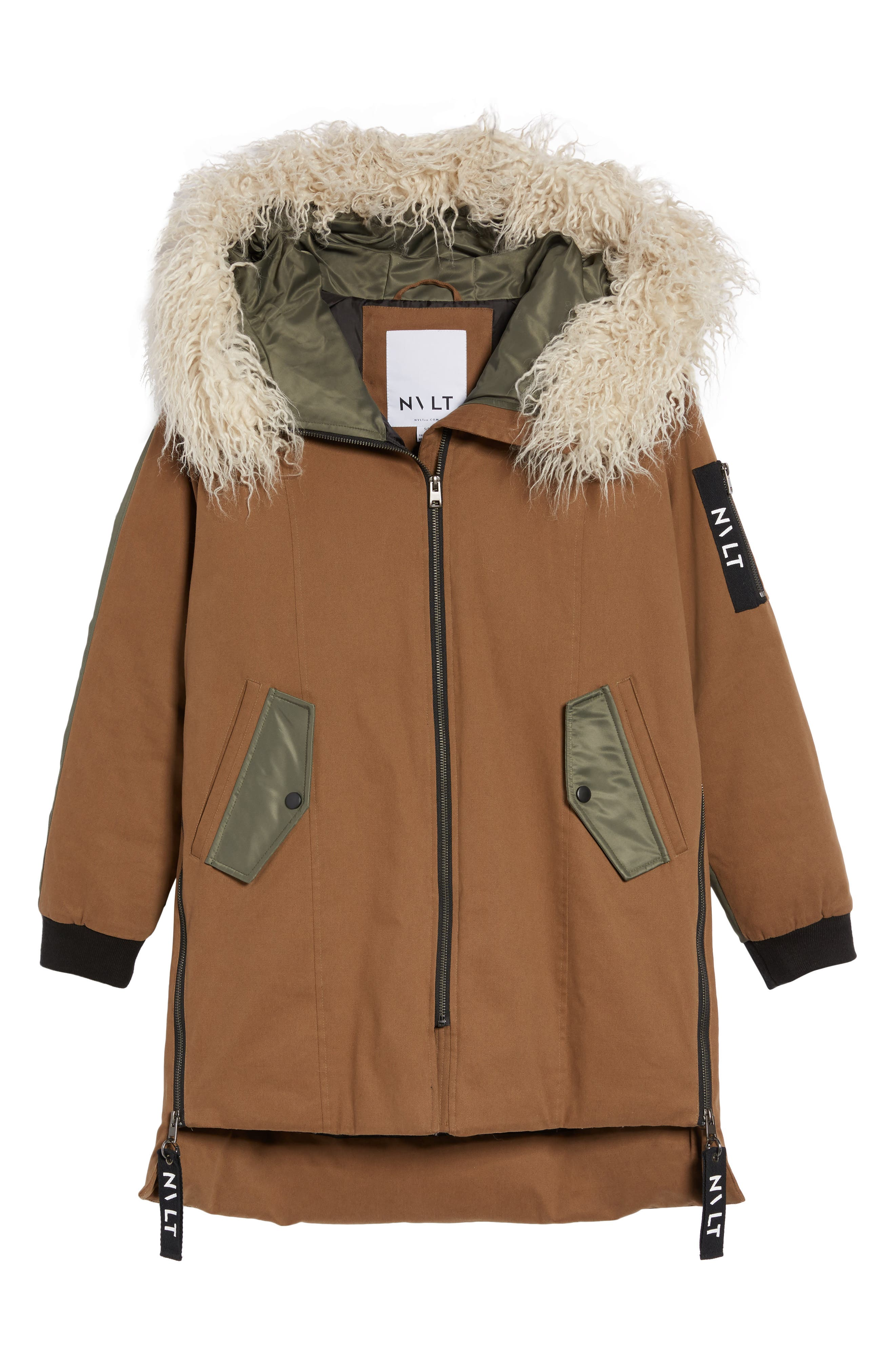 Stretch Cotton Twill Parka,                             Alternate thumbnail 6, color,                             Khaki