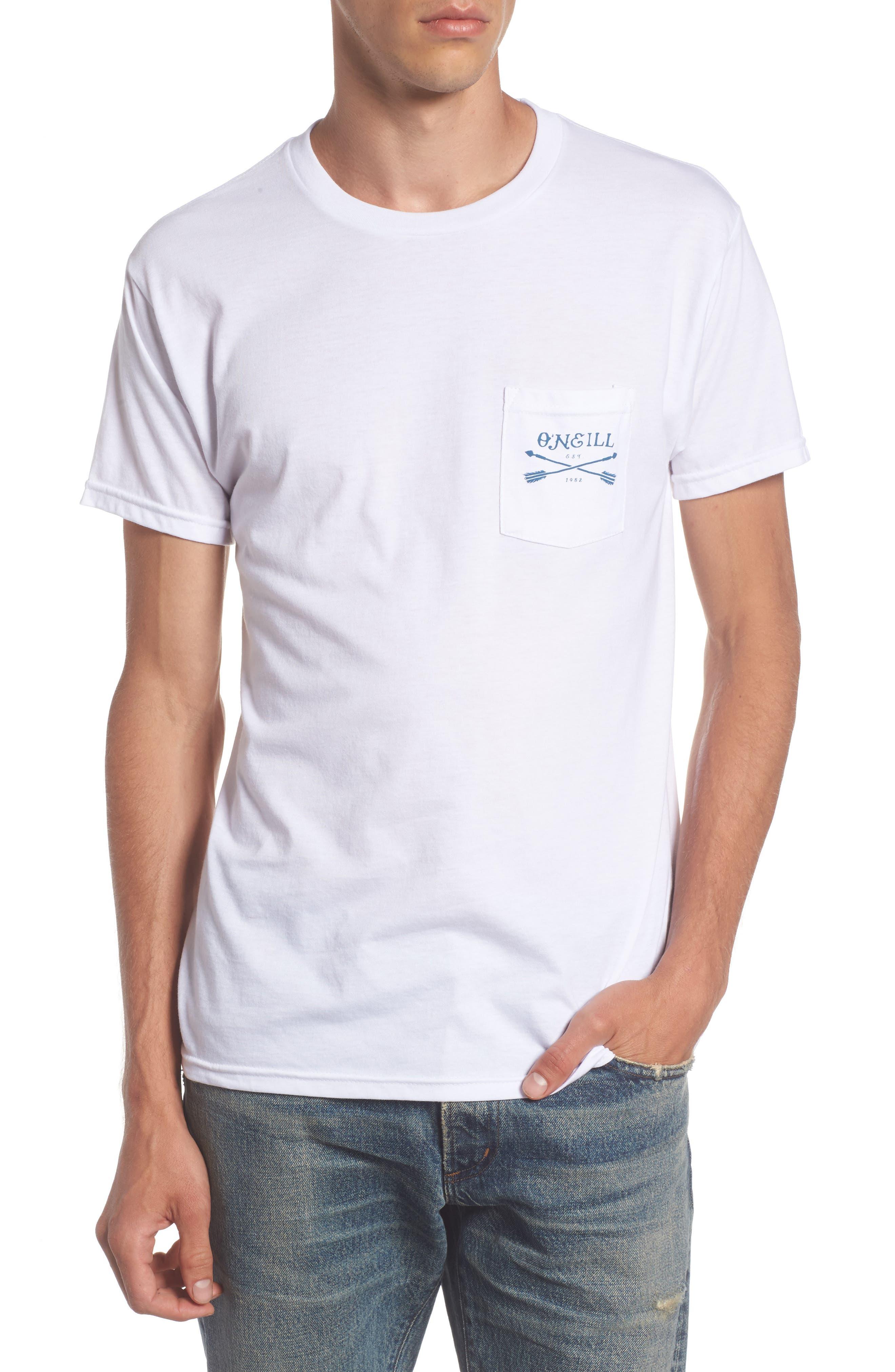 Arrows Pocket T-Shirt,                         Main,                         color, White