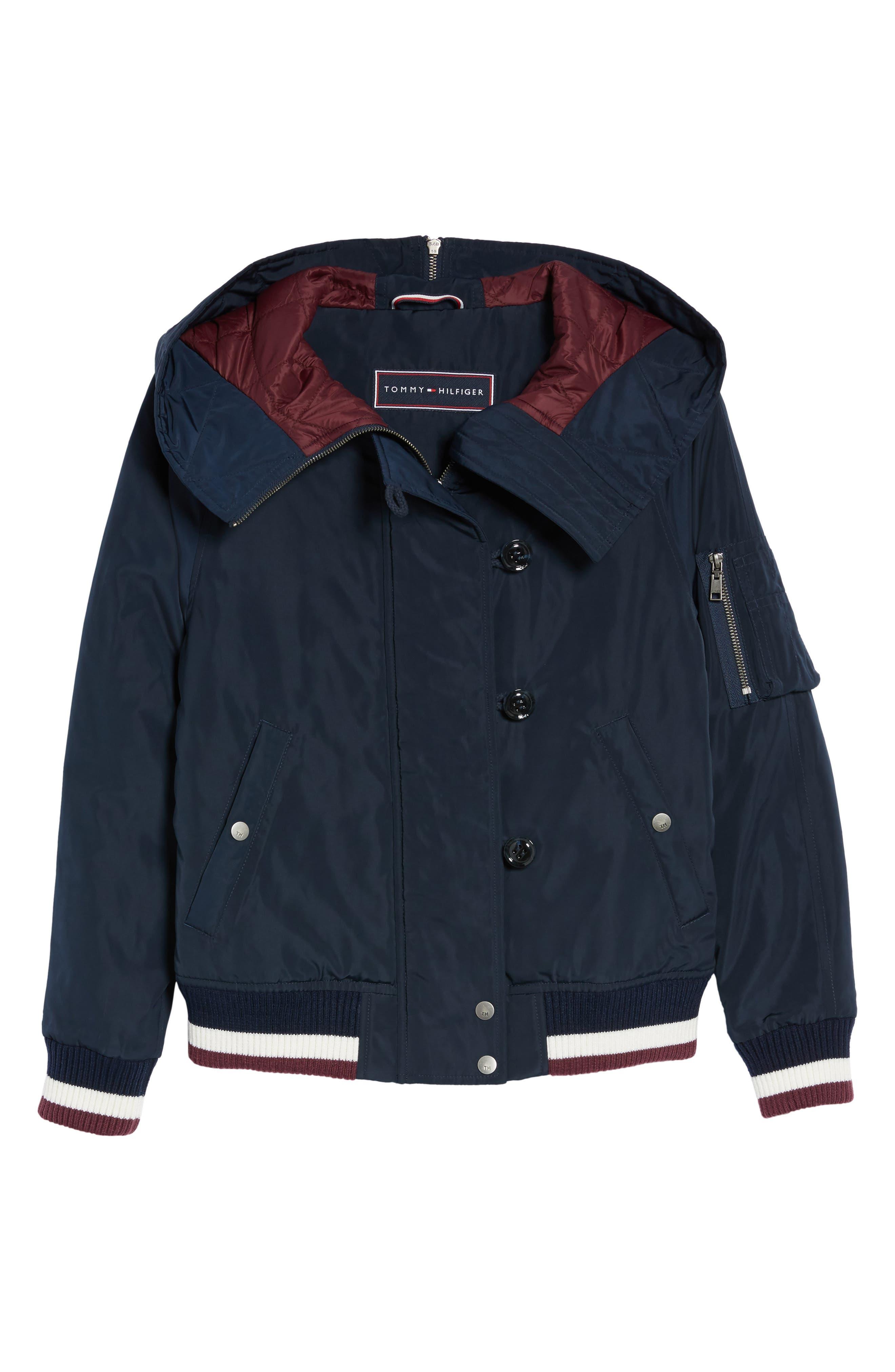 Hooded Windbreaker Jacket,                             Alternate thumbnail 6, color,                             Navy