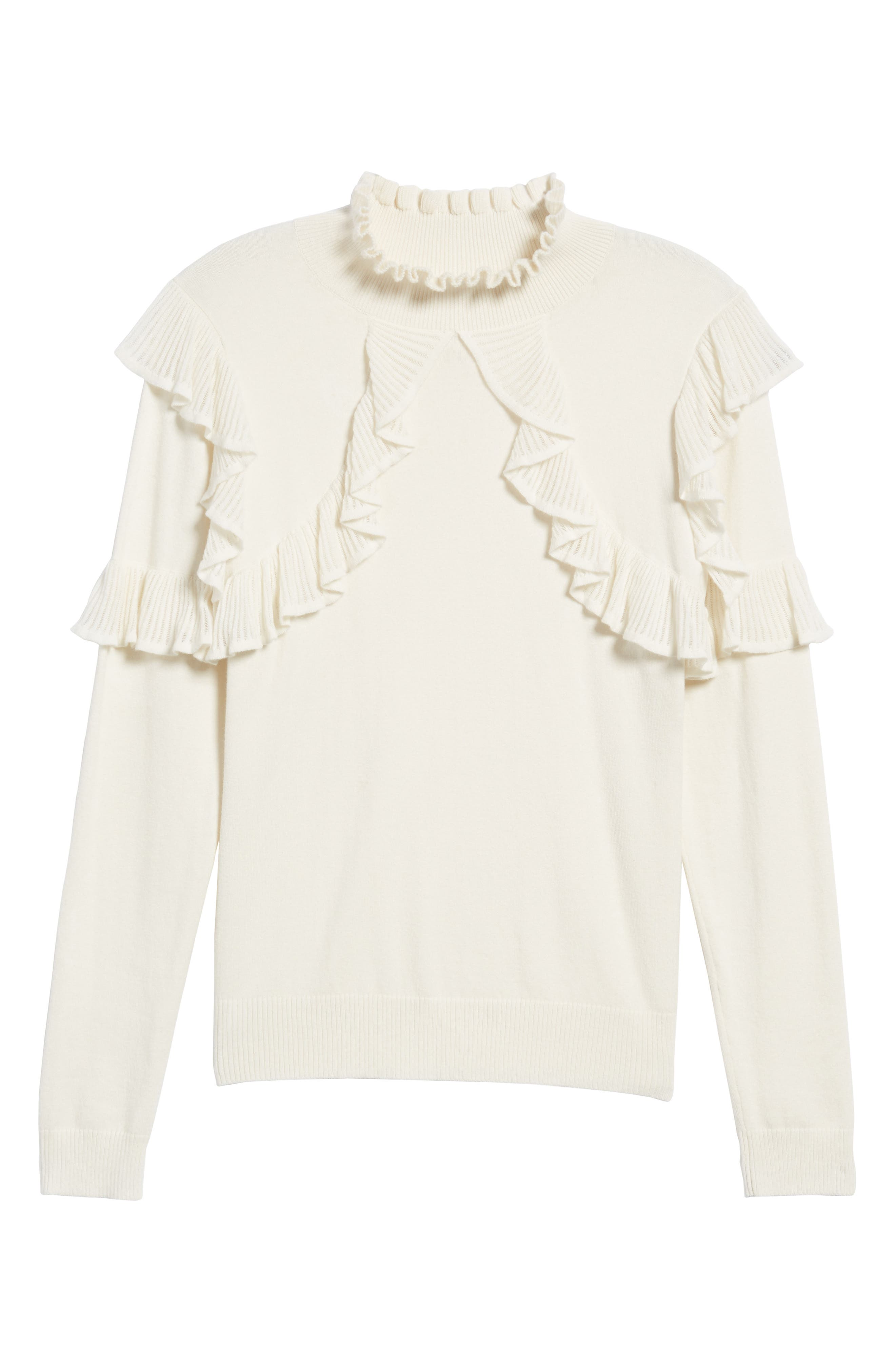 Alternate Image 6  - Leith Ruffle Trim Sweater