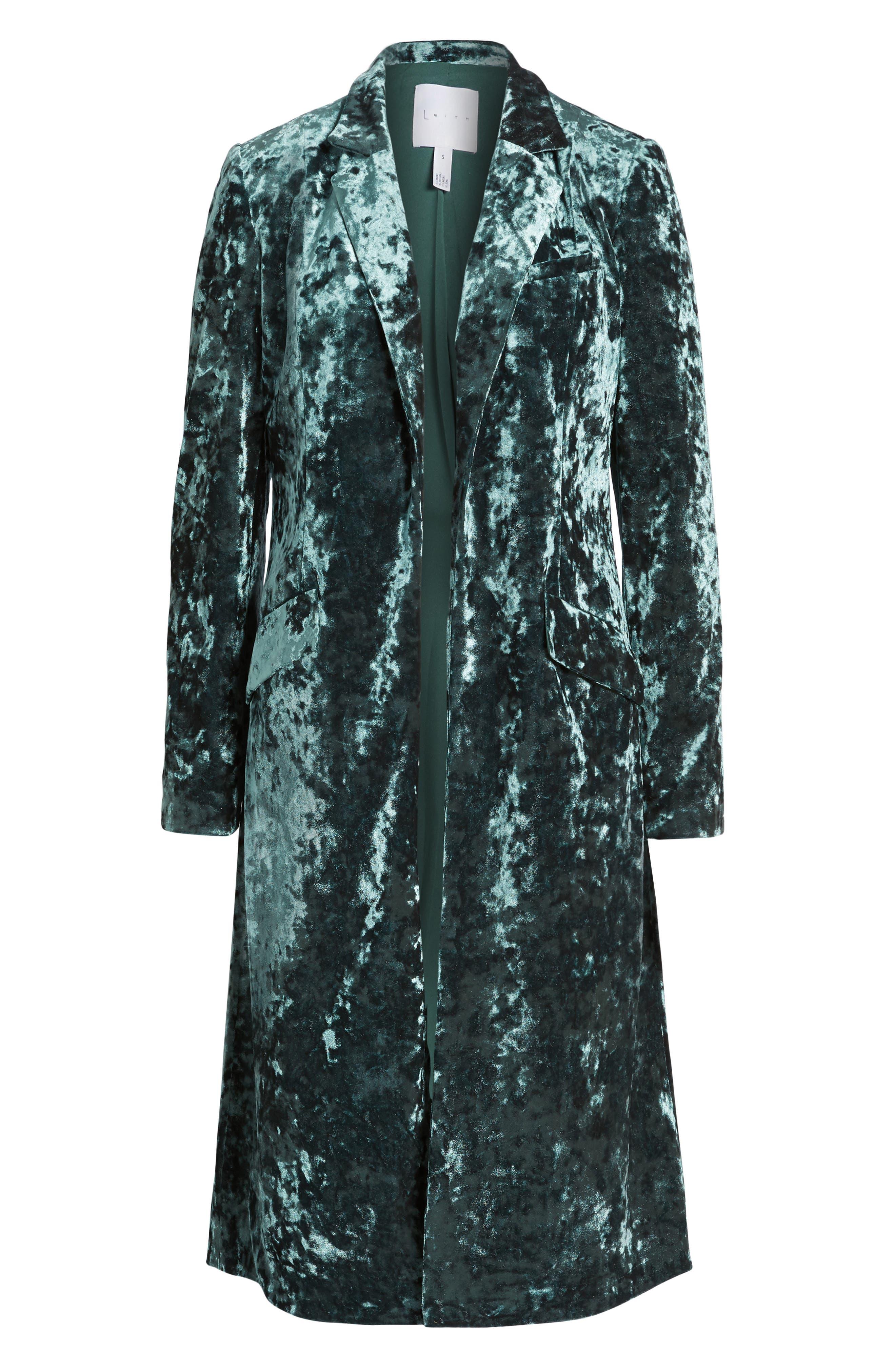 Alternate Image 6  - Leith Long Velour Jacket