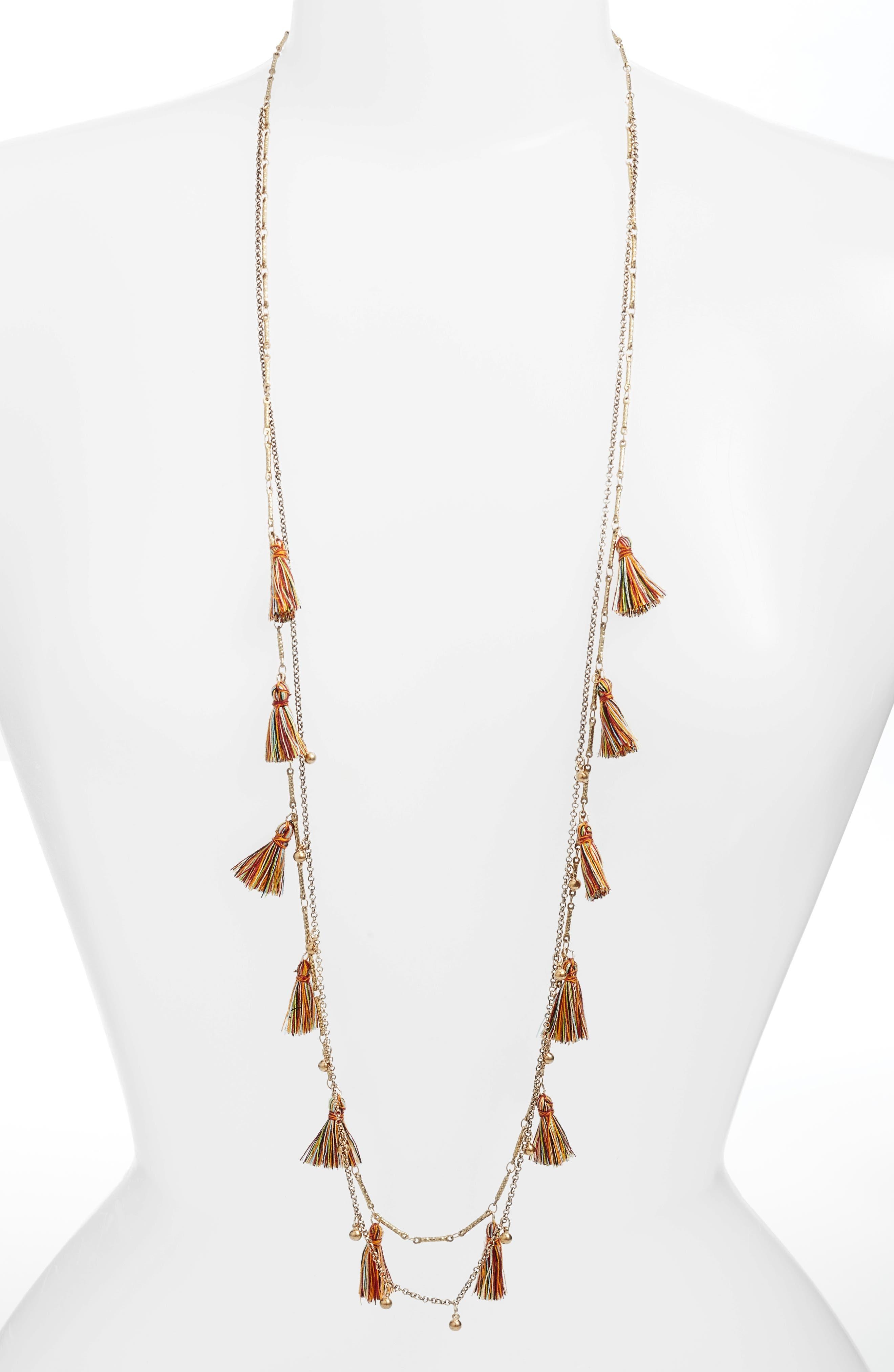Serefina Long Tassel Necklace