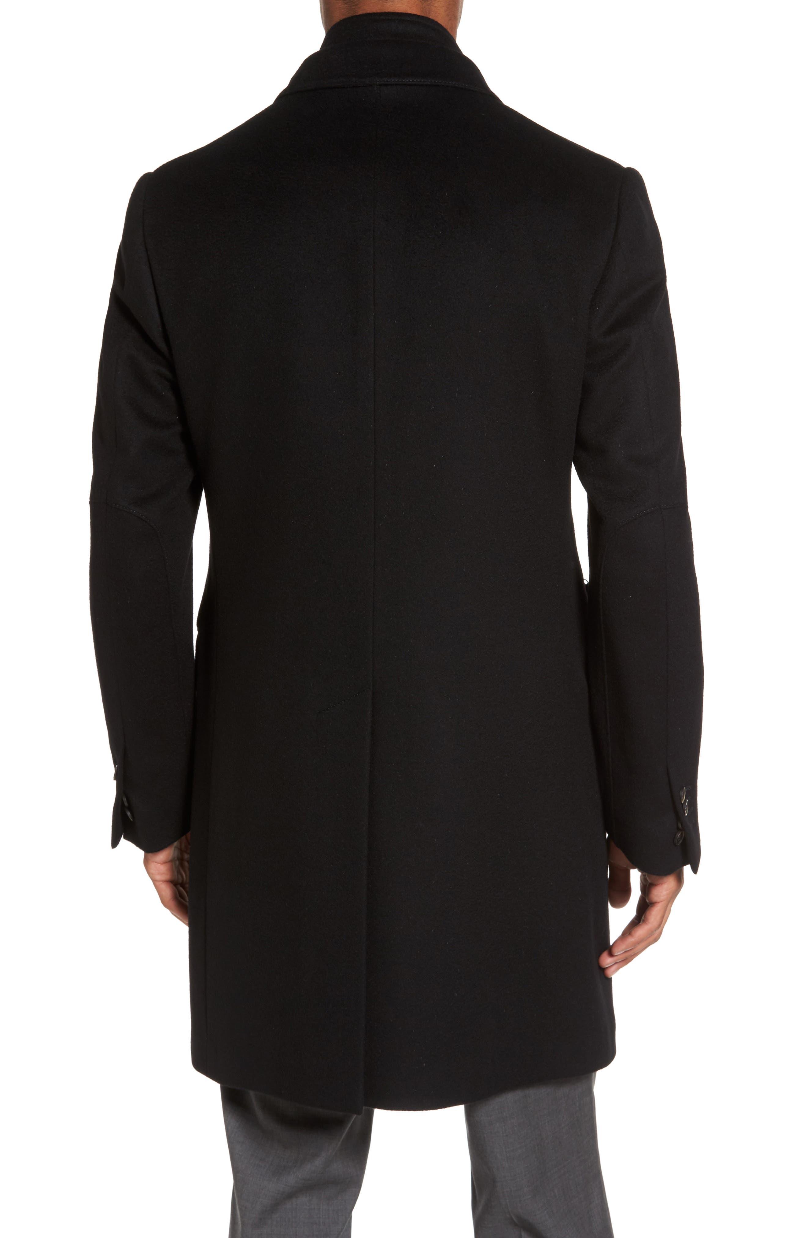 Classic Fit Wool Overcoat,                             Alternate thumbnail 2, color,                             Black