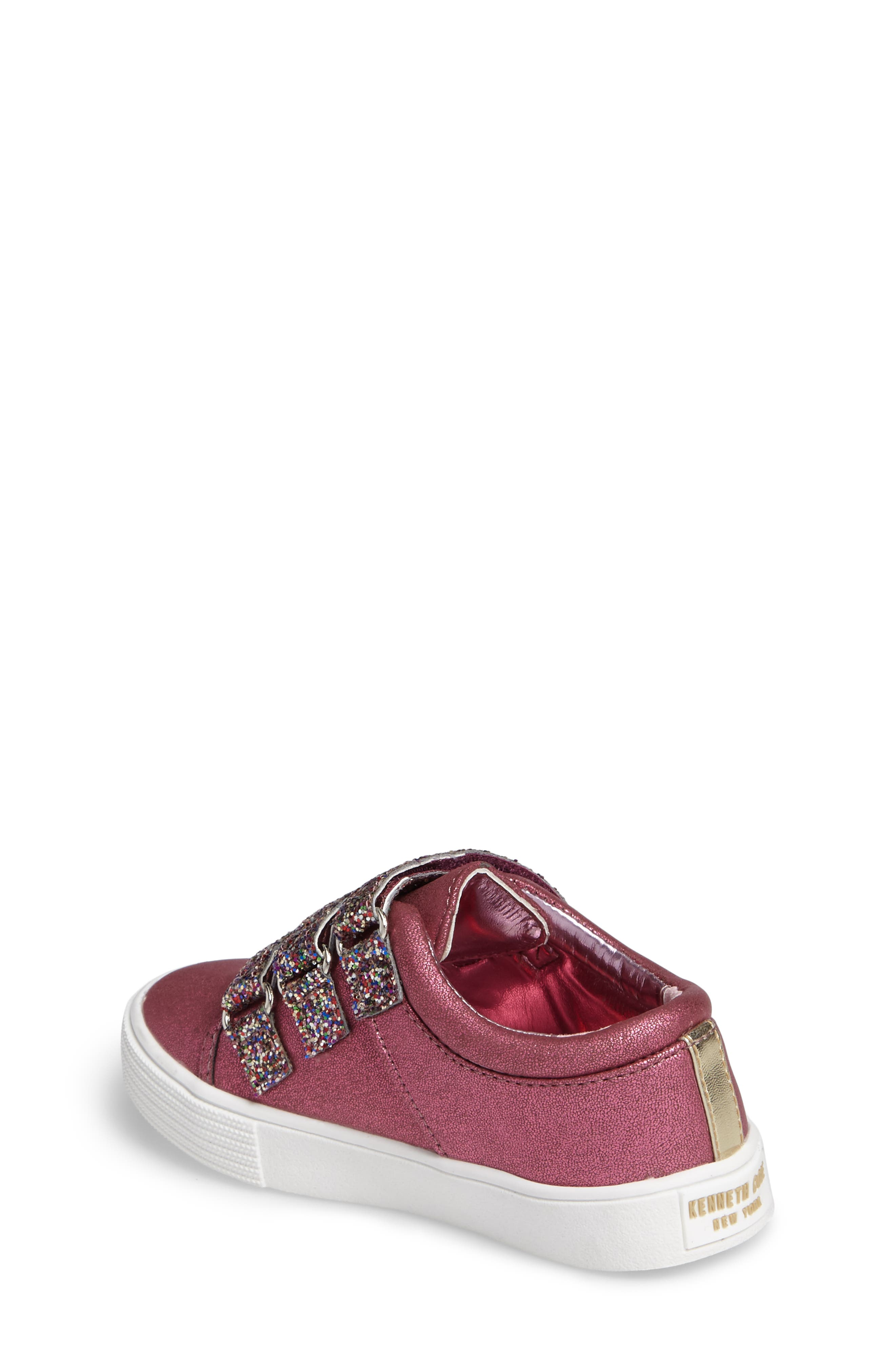 Alternate Image 2  - Kenneth Cole New York Kam Glitter Strap Sneaker (Walker & Toddler)