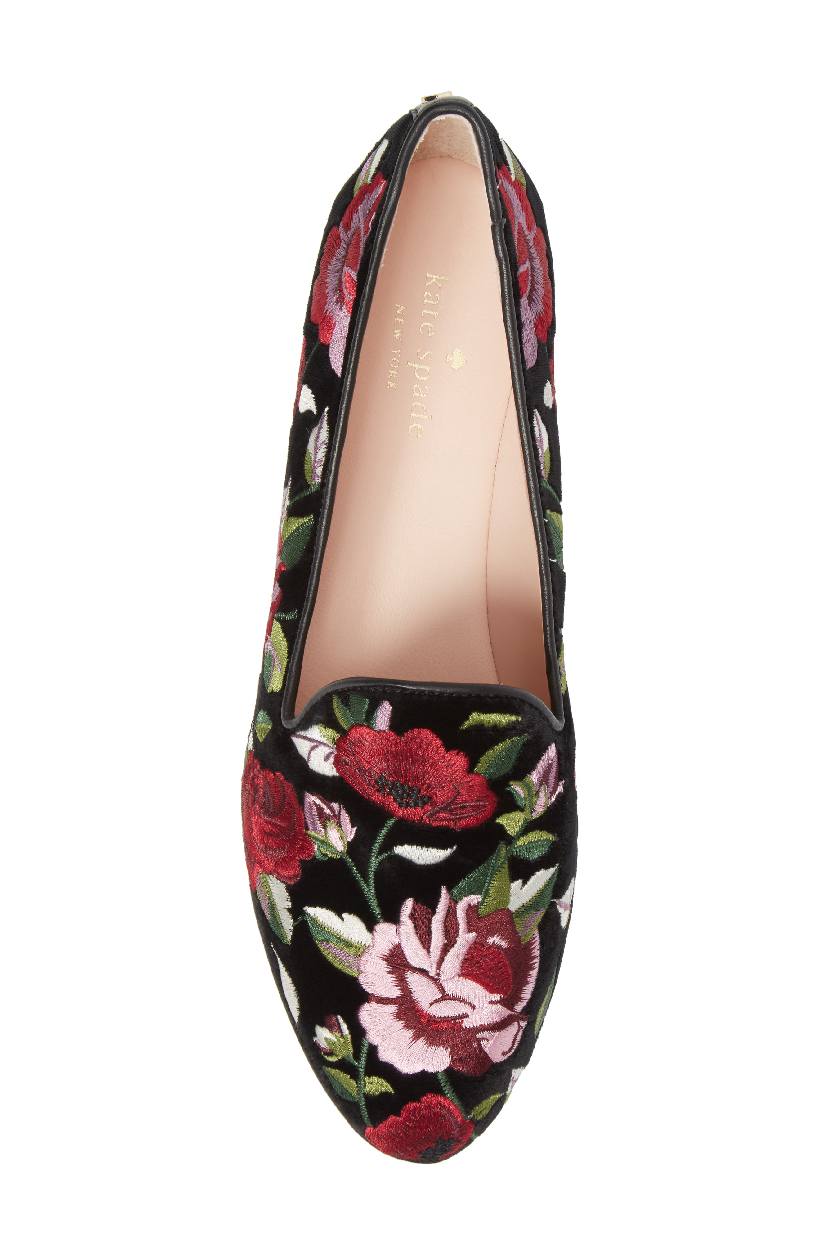 Alternate Image 5  - kate spade new york swinton embroidered loafer (Women)