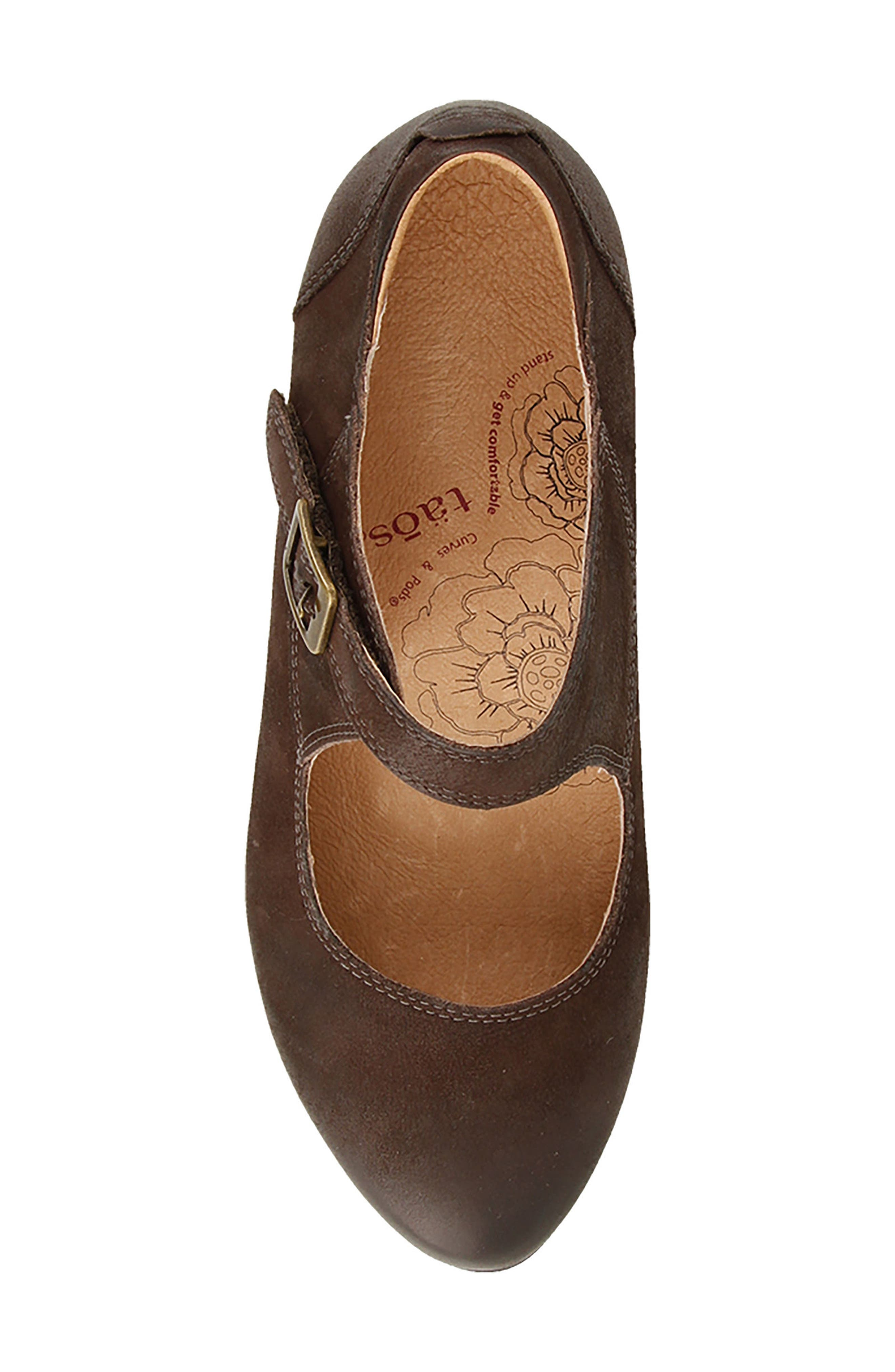 Studio Mary Jane Pump,                             Alternate thumbnail 5, color,                             Chocolate Oiled Leather