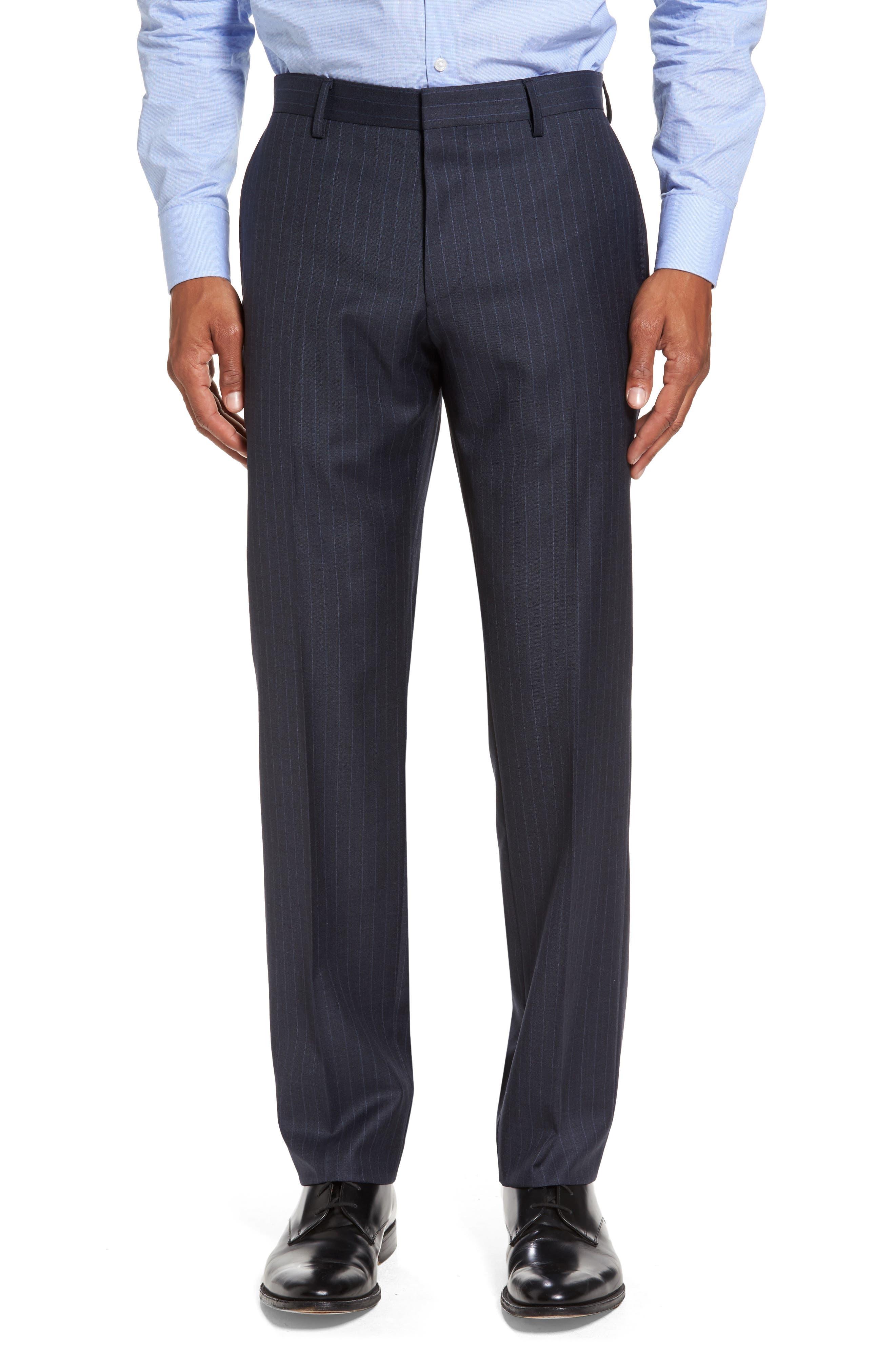 Alternate Image 6  - BOSS Huge/Genius Trim Fit Stripe Wool Suit