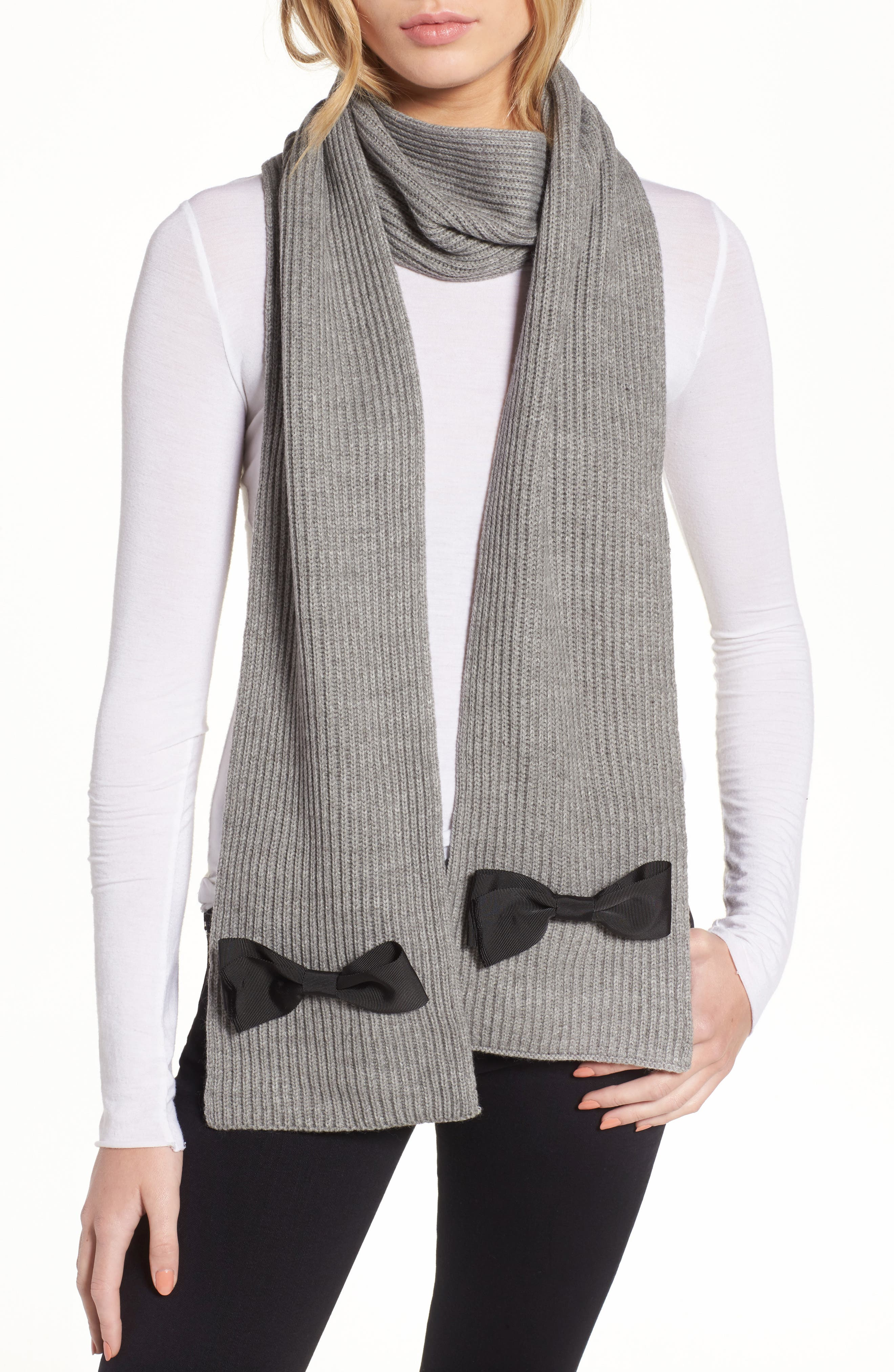 kate spade new york grosgrain bow muffler scarf