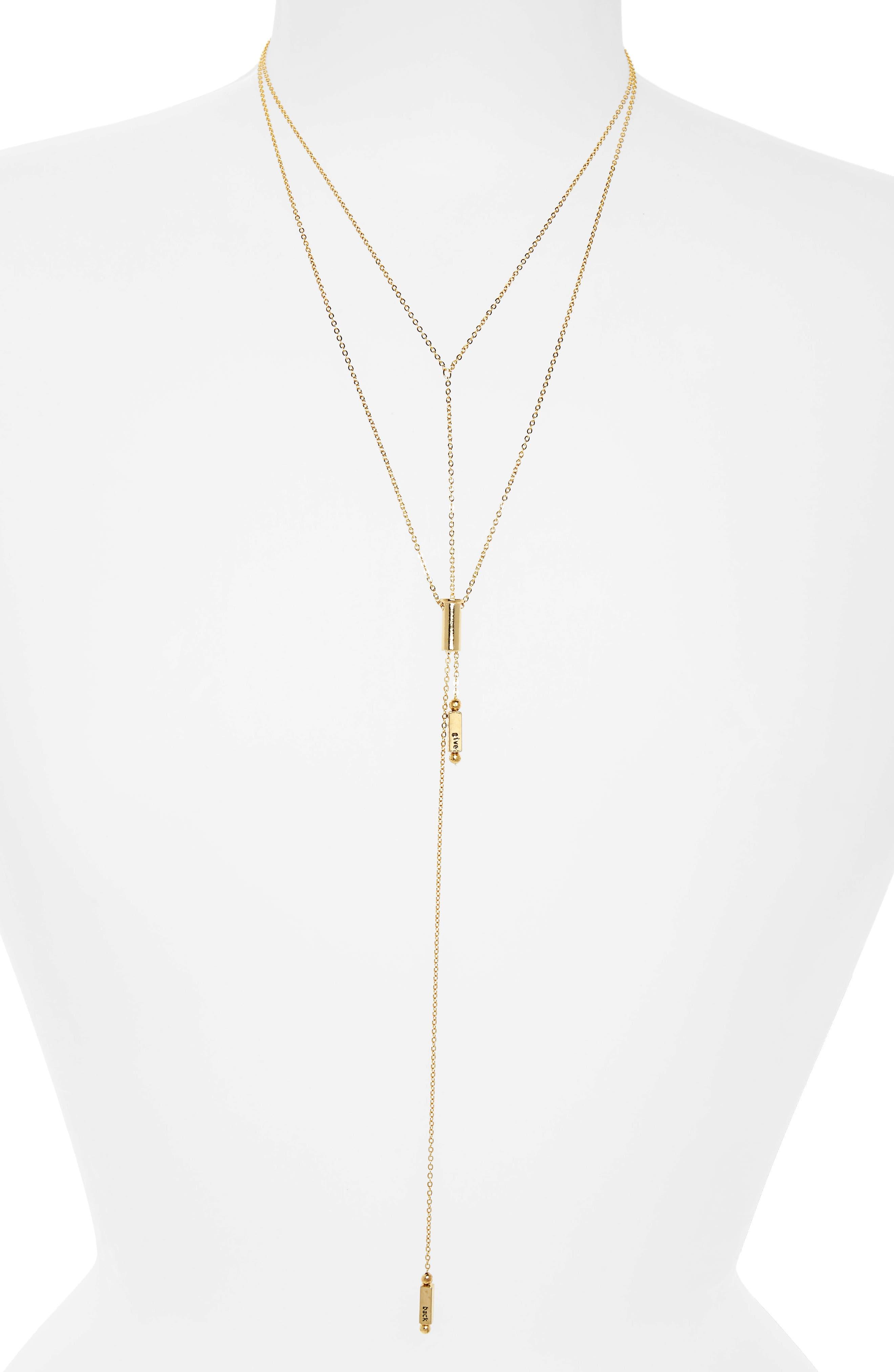 Main Image - HALF UNITED Phoebe Layered Lariat Necklace