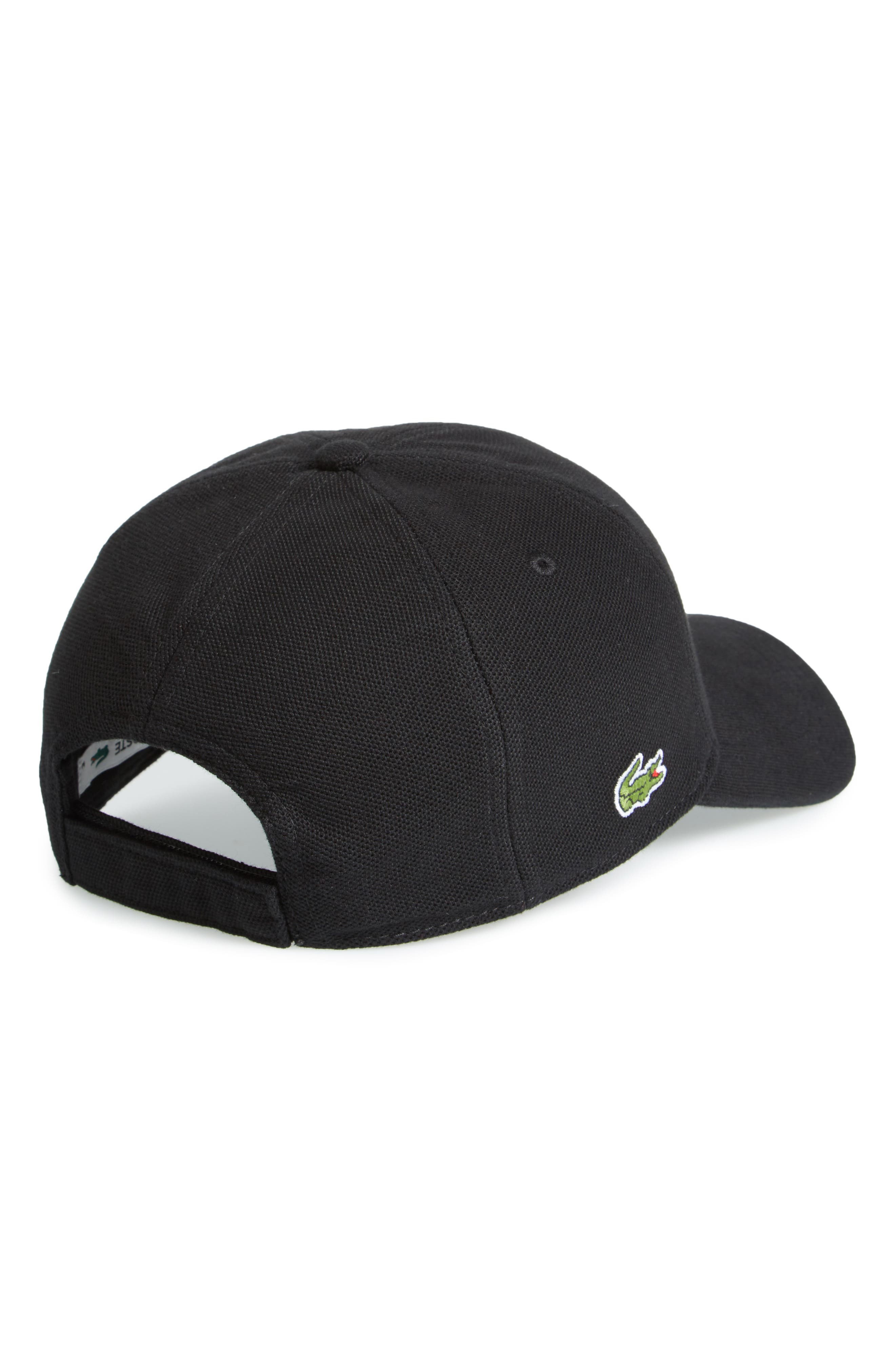 Croc Cotton Baseball Cap,                             Alternate thumbnail 2, color,                             Black