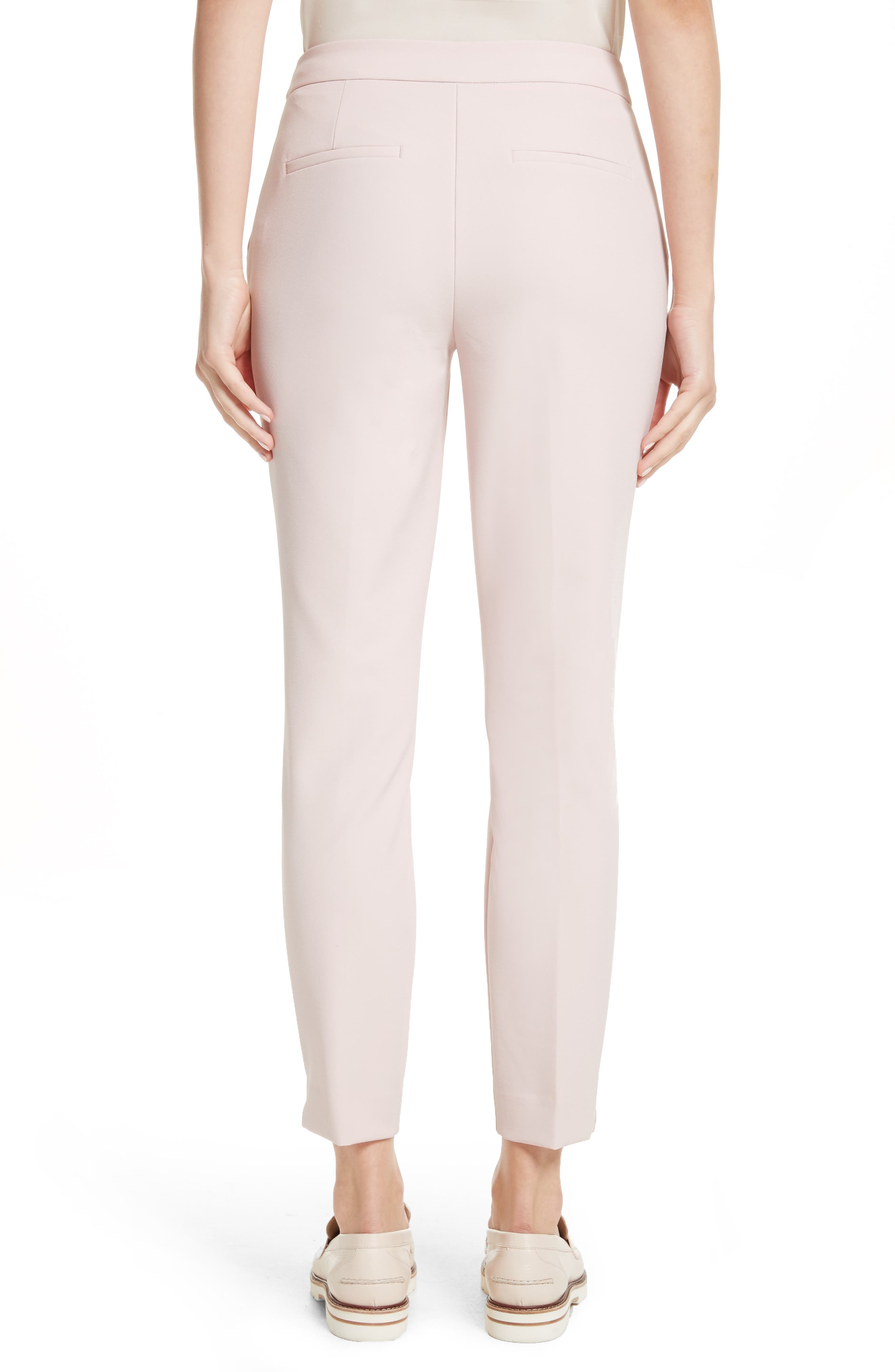 Suria Tailored Ankle Grazer Trousers,                             Alternate thumbnail 2, color,                             Pale Pink