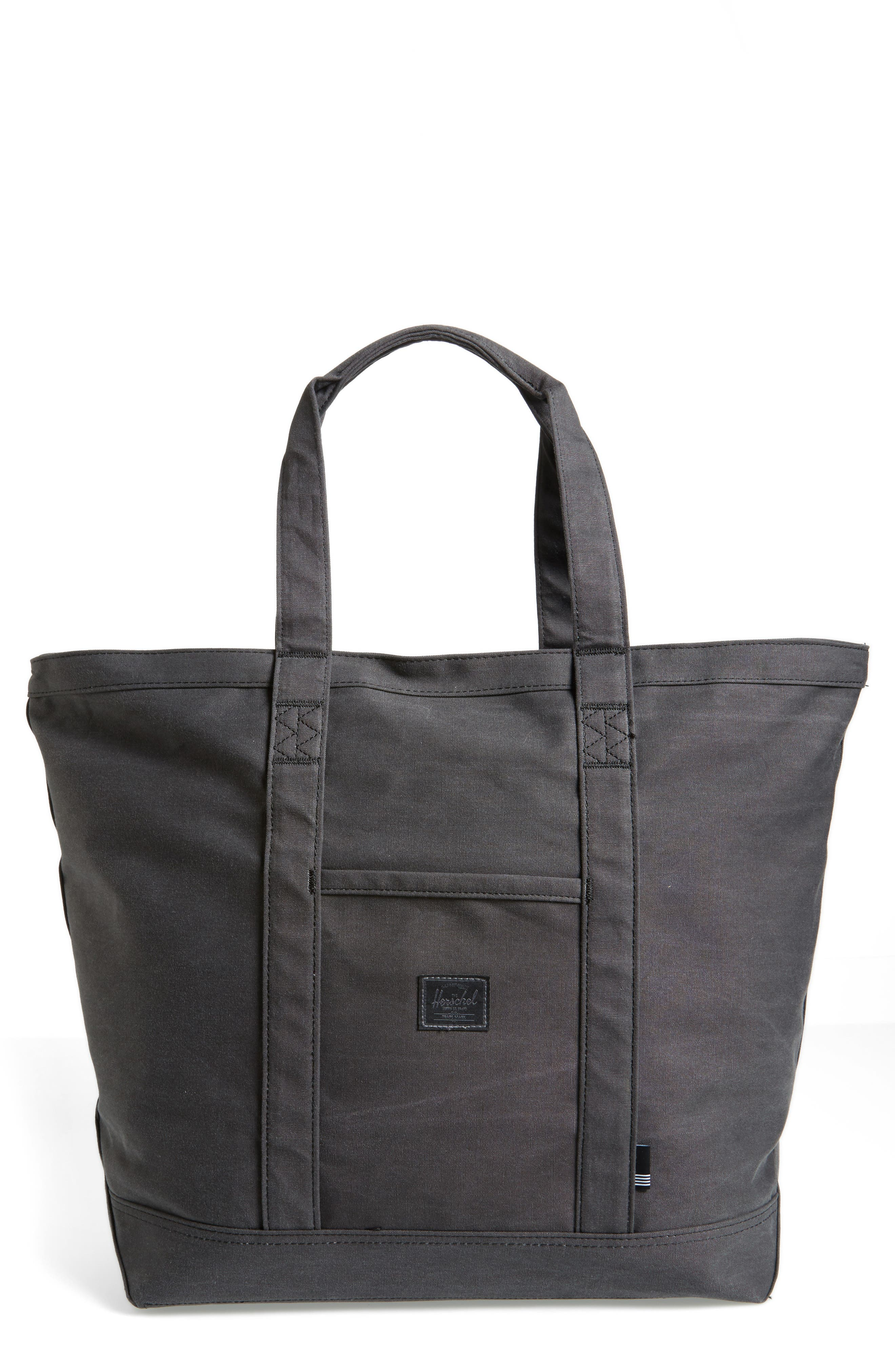 Bamfield Tote Bag,                             Main thumbnail 1, color,                             Black