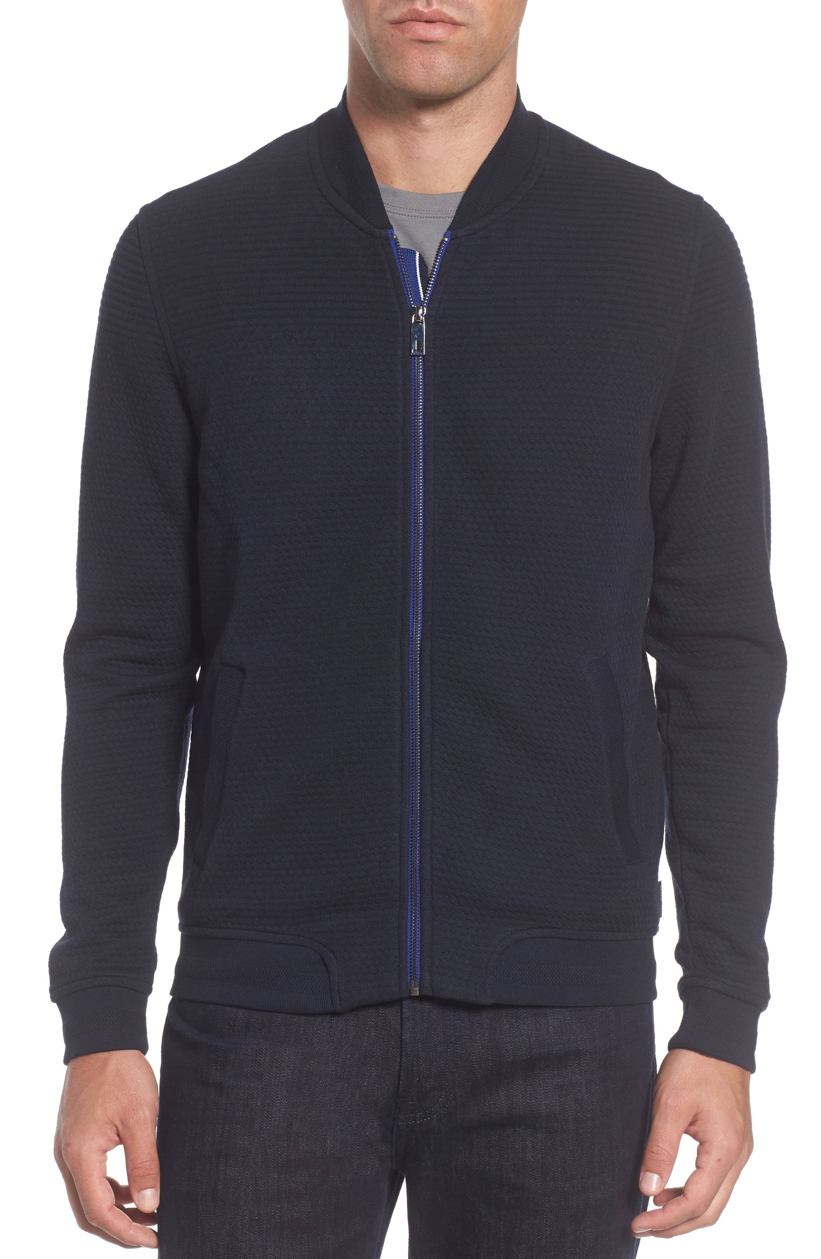 Alternate Image 4  - Ted Baker London Clive Quilted Jersey Bomber Jacket