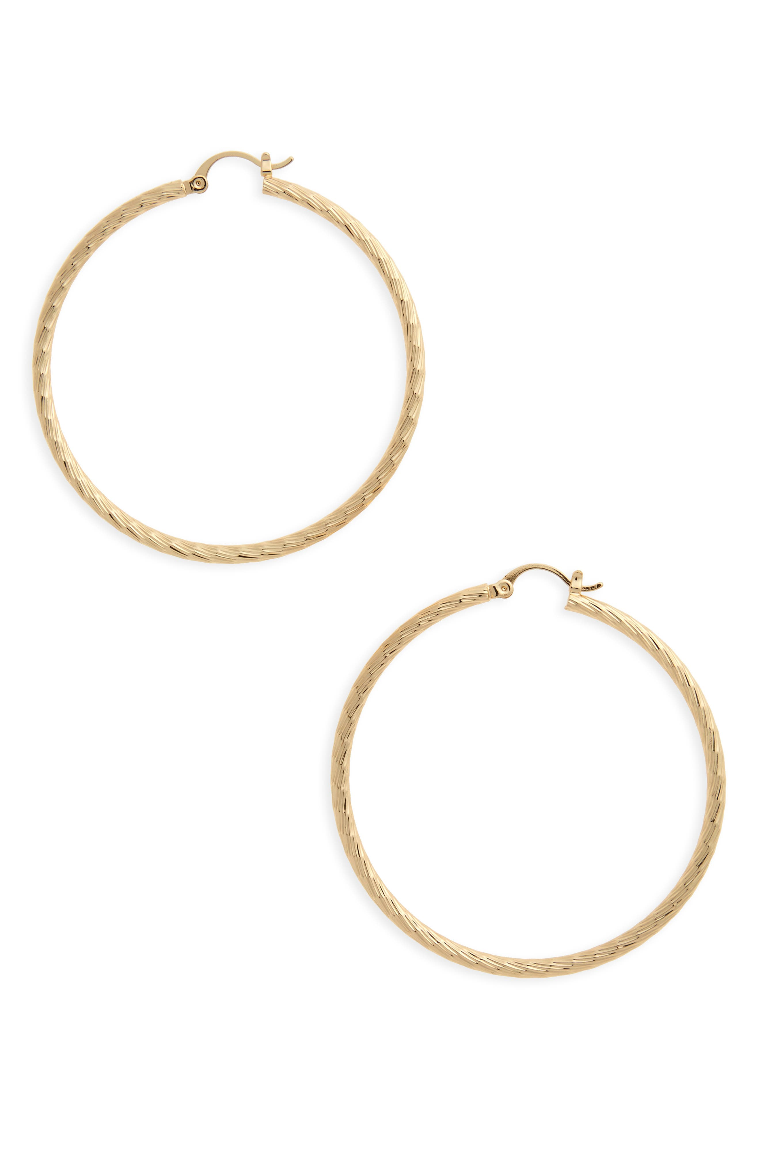 BP. Thick Hoop earrings
