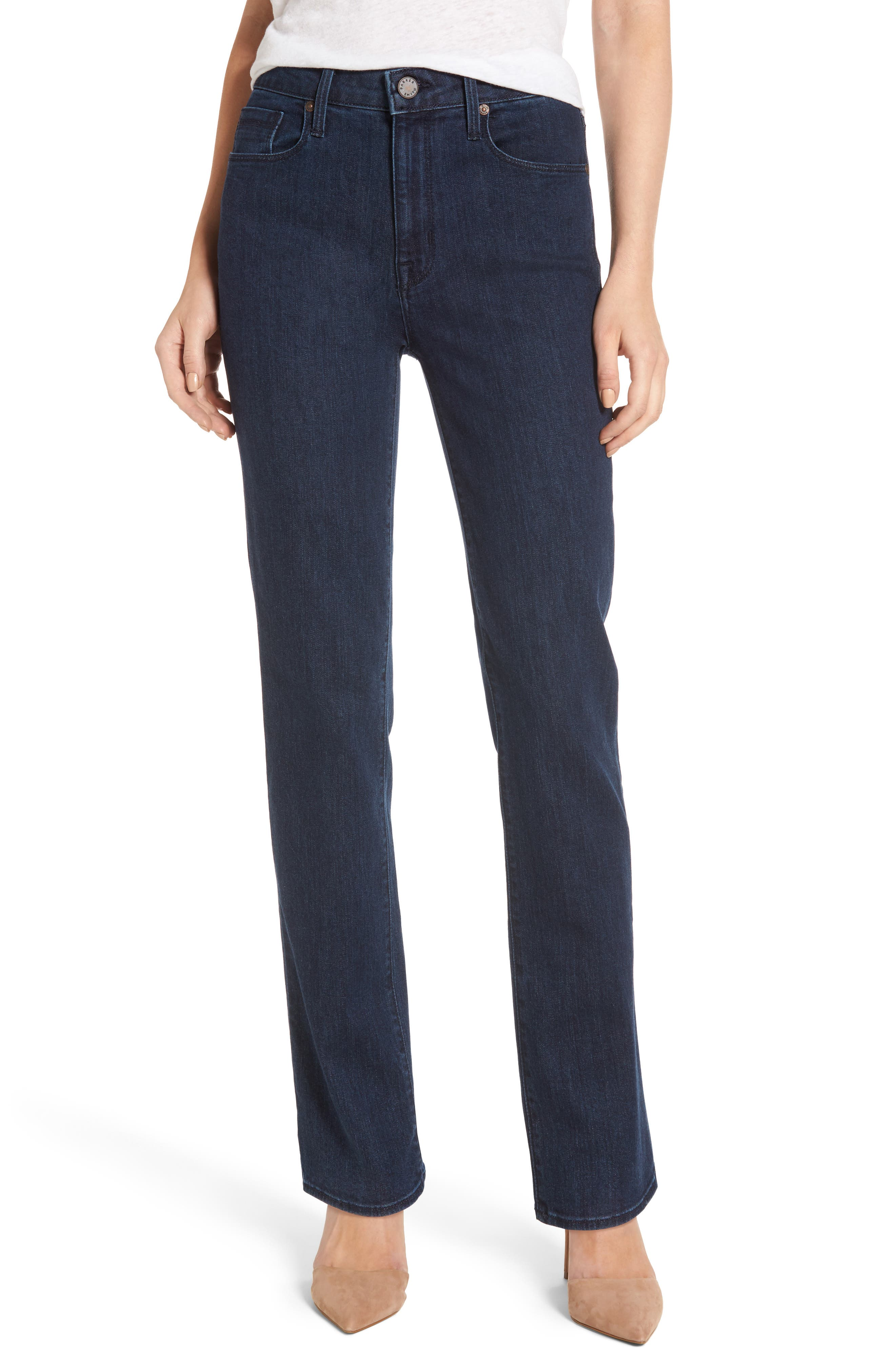 Alternate Image 1 Selected - PARKER SMITH Bombshell Runaround Straight Leg Jeans (Baltic)