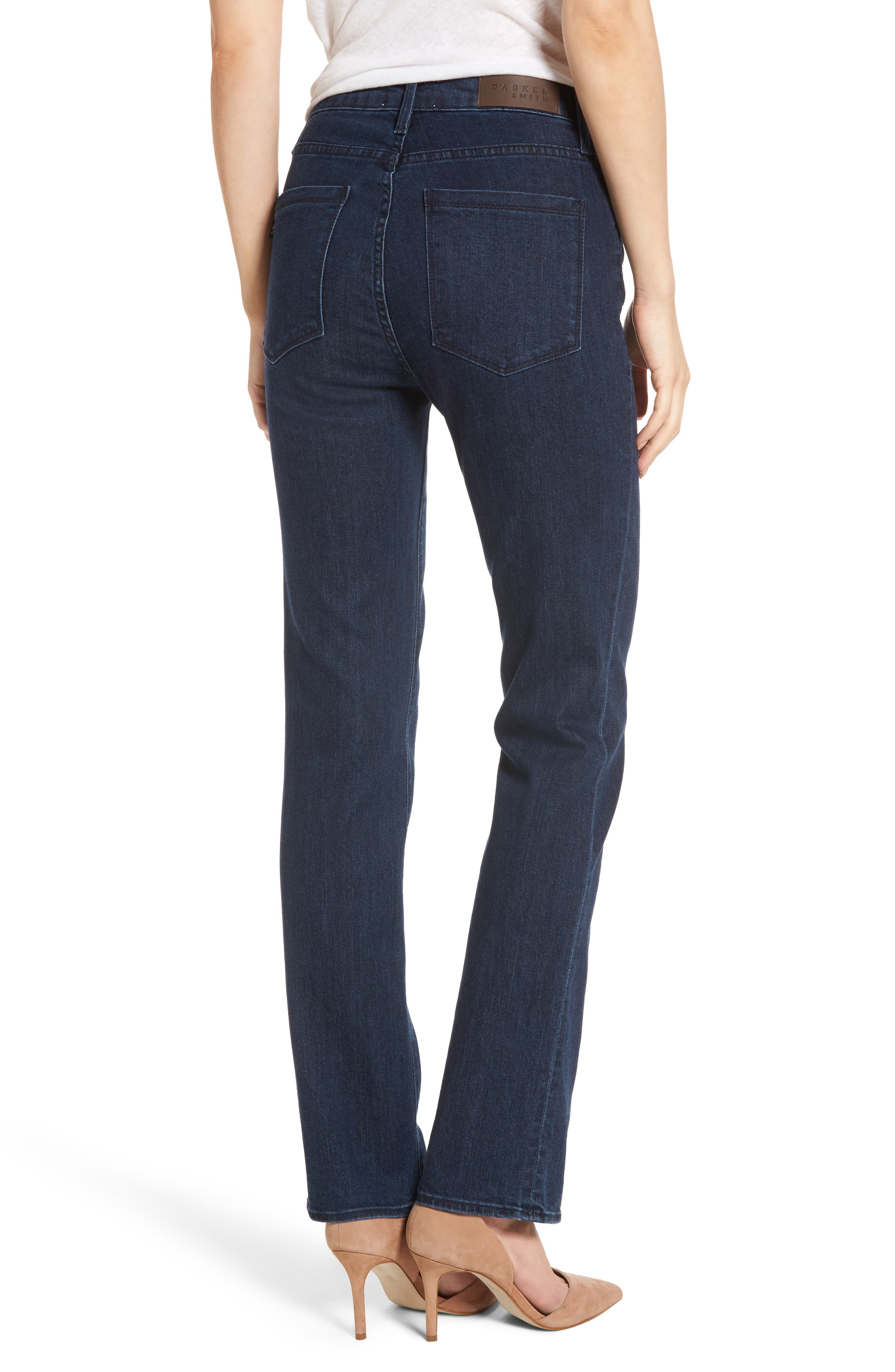 Alternate Image 2  - PARKER SMITH Bombshell Runaround Straight Leg Jeans (Baltic)