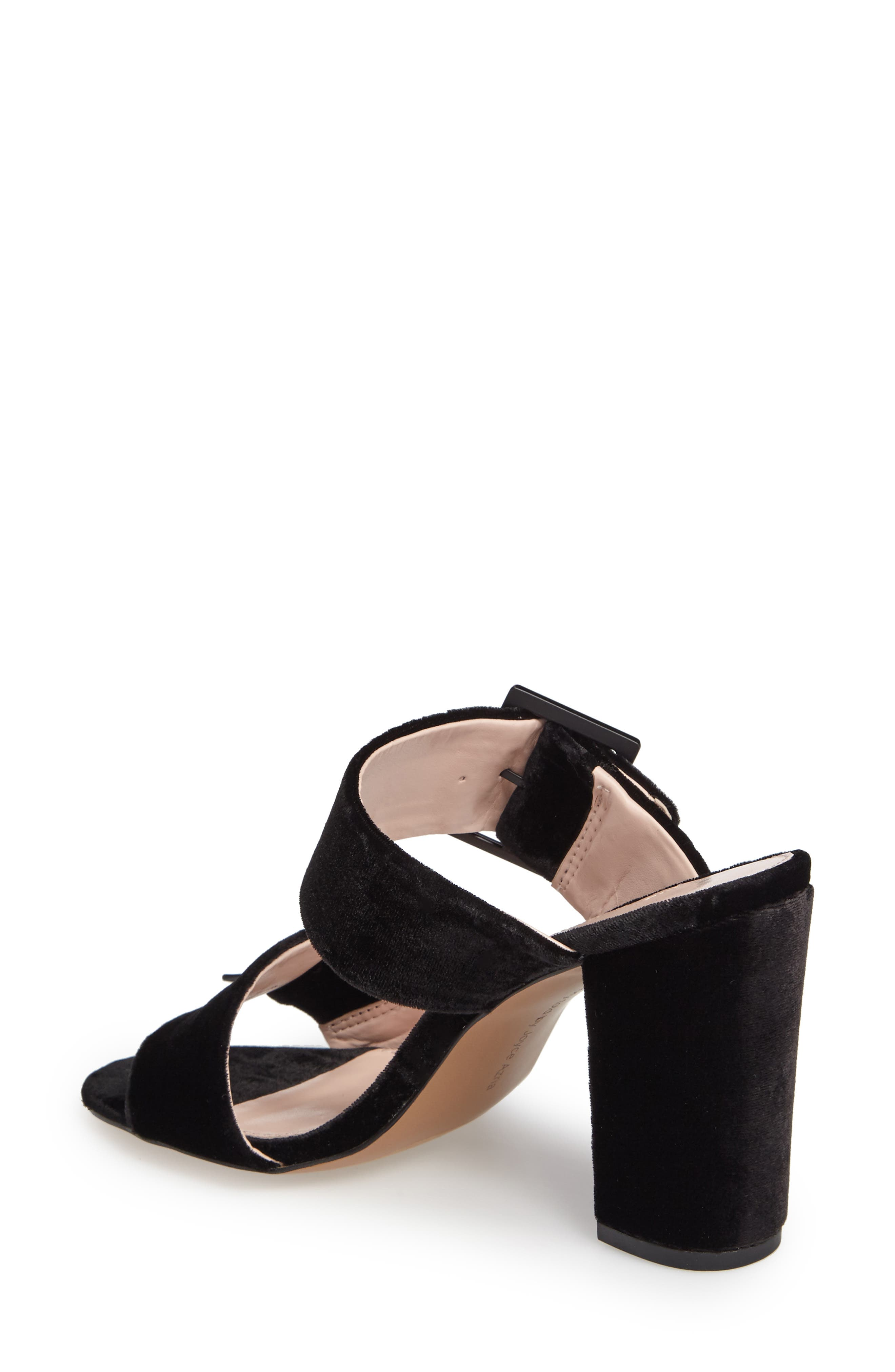 Millie Buckle Strap Sandal,                             Alternate thumbnail 2, color,                             Black Fabric