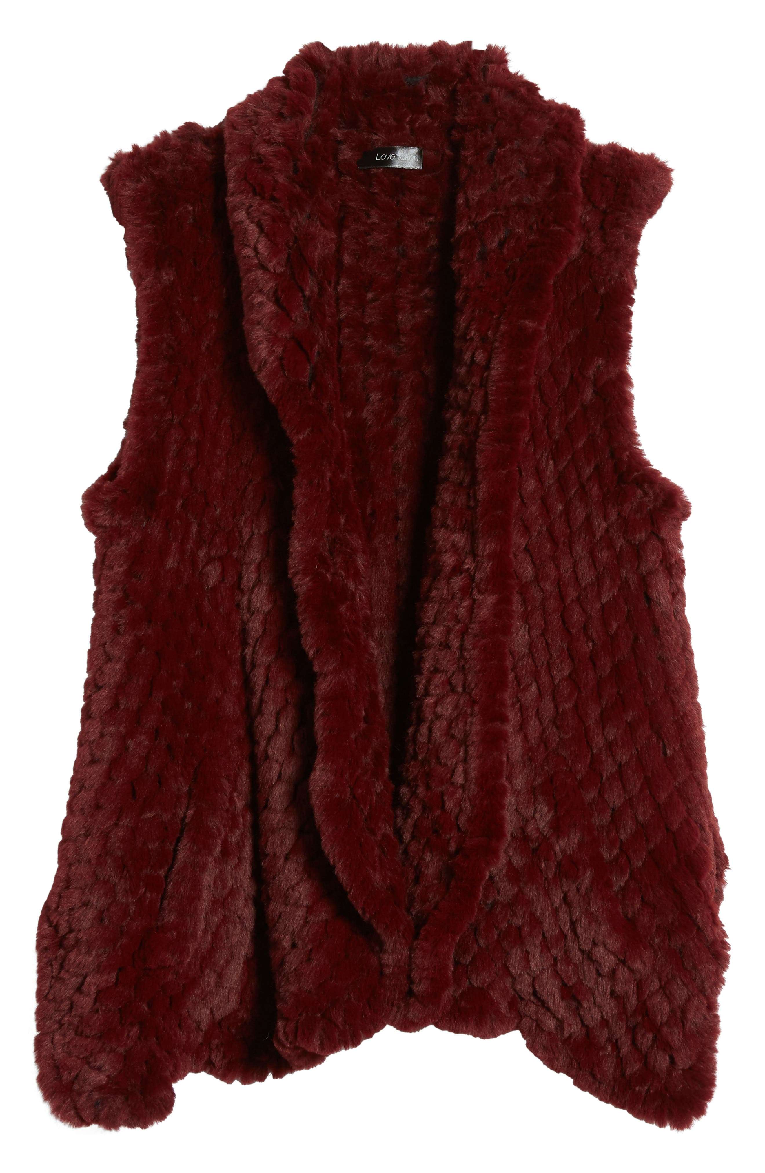 Alternate Image 5  - Love Token Faux Fur Vest