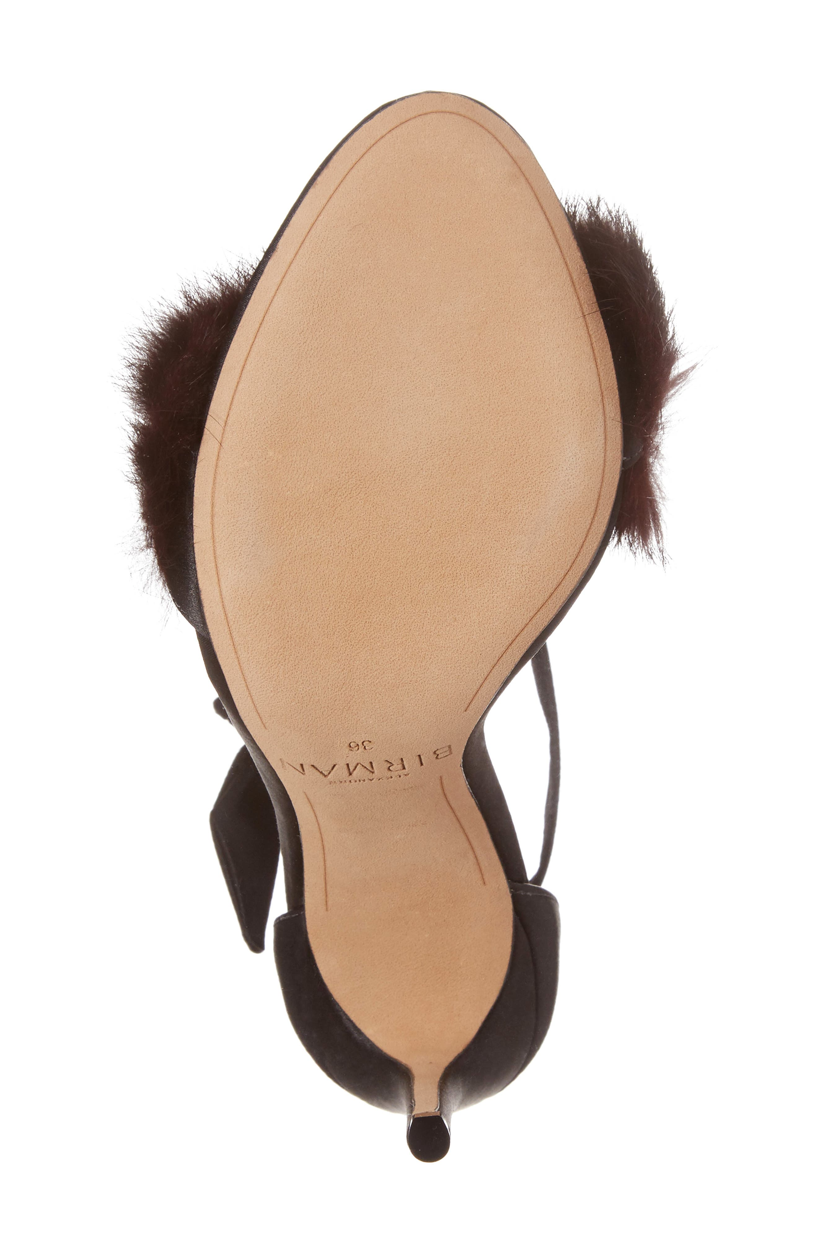 Alternate Image 6  - Alexandre Birman Clarita Genuine Rabbit Fur Sandal (Women)