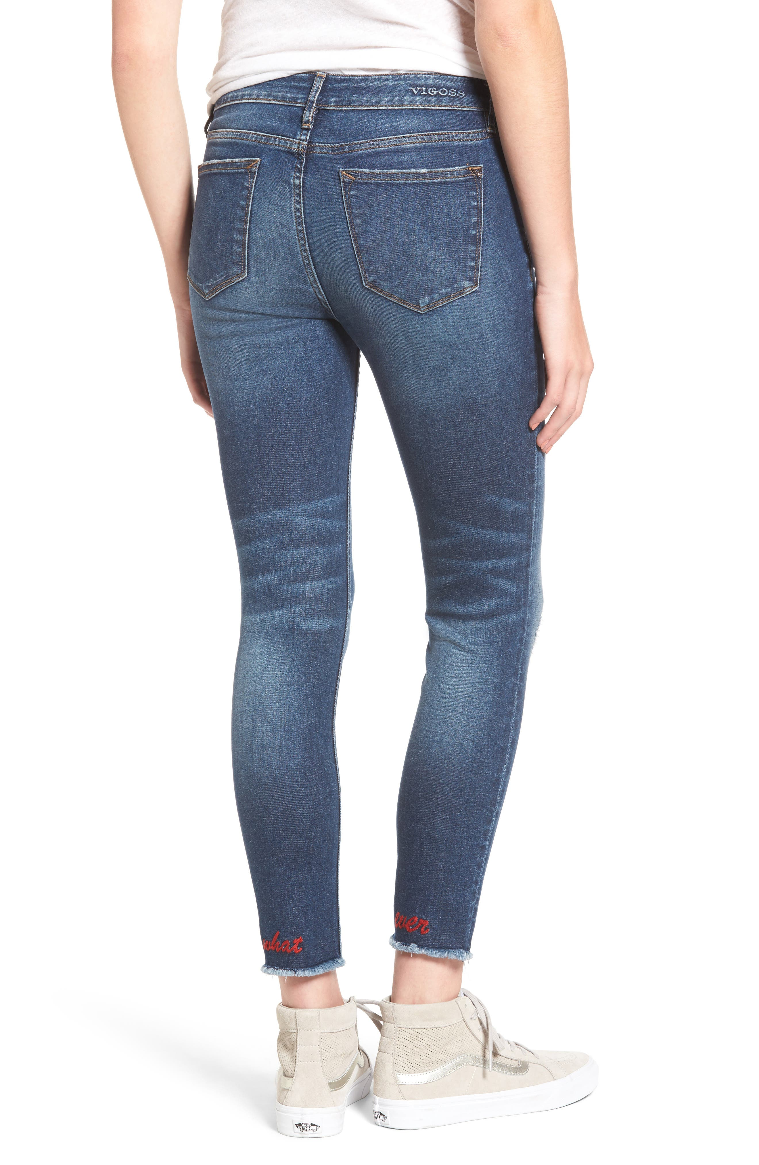 Alternate Image 2  - Vigoss Whatever Distressed Ankle Skinny Jeans