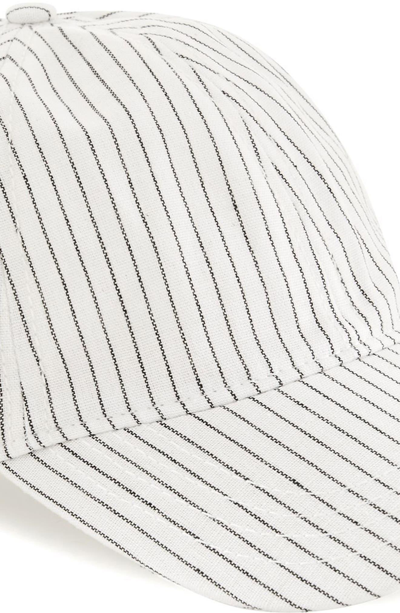 Stripe Boys Curved Peak Cap,                             Alternate thumbnail 3, color,                             White Multi