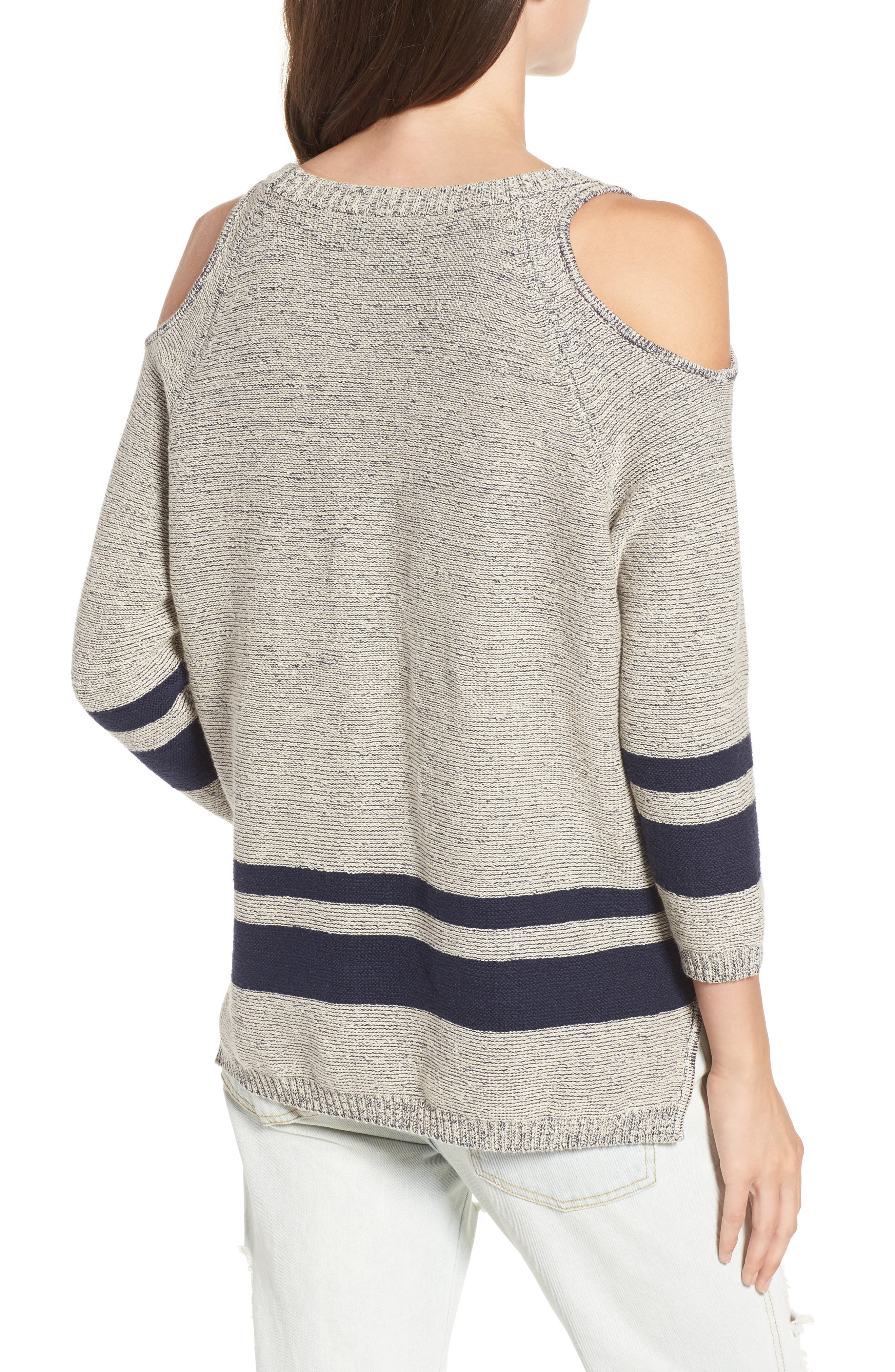 Alternate Image 2  - RVCA Marked Cold Shoulder Sweater