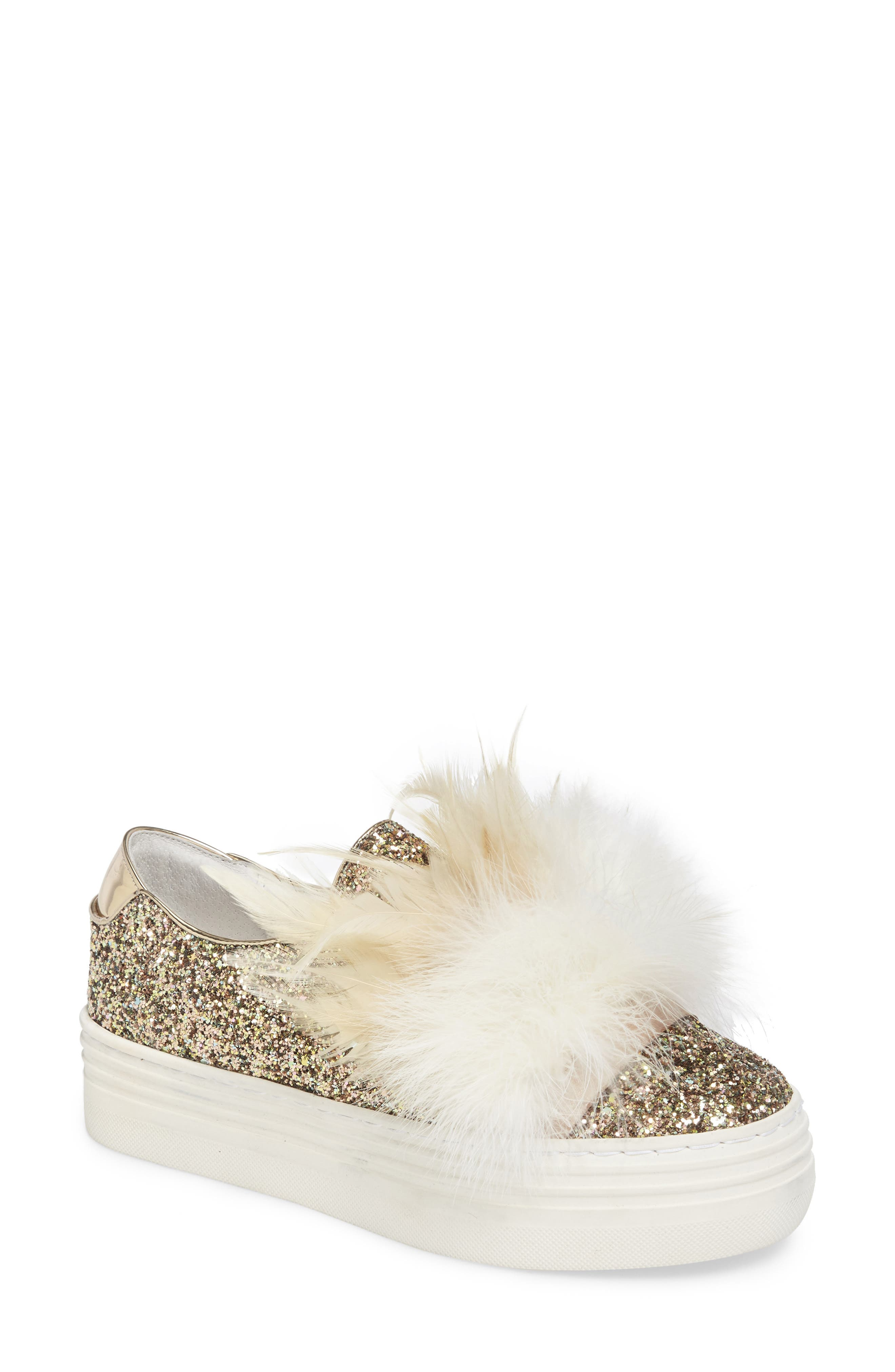 HERE / NOW Michelle Feather Slip-On Sneaker