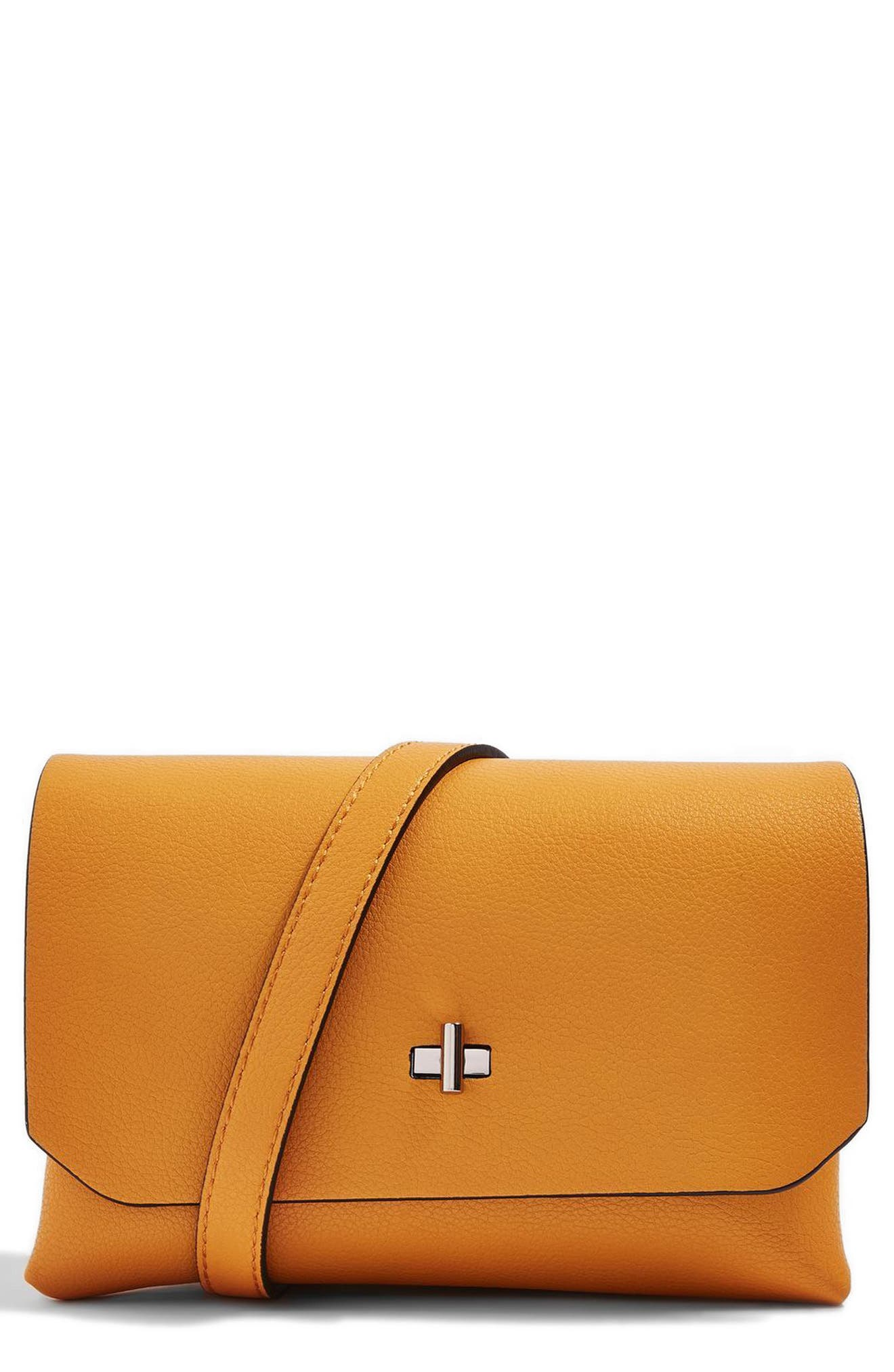Topshop Otley Faux Leather Crossbody Bag