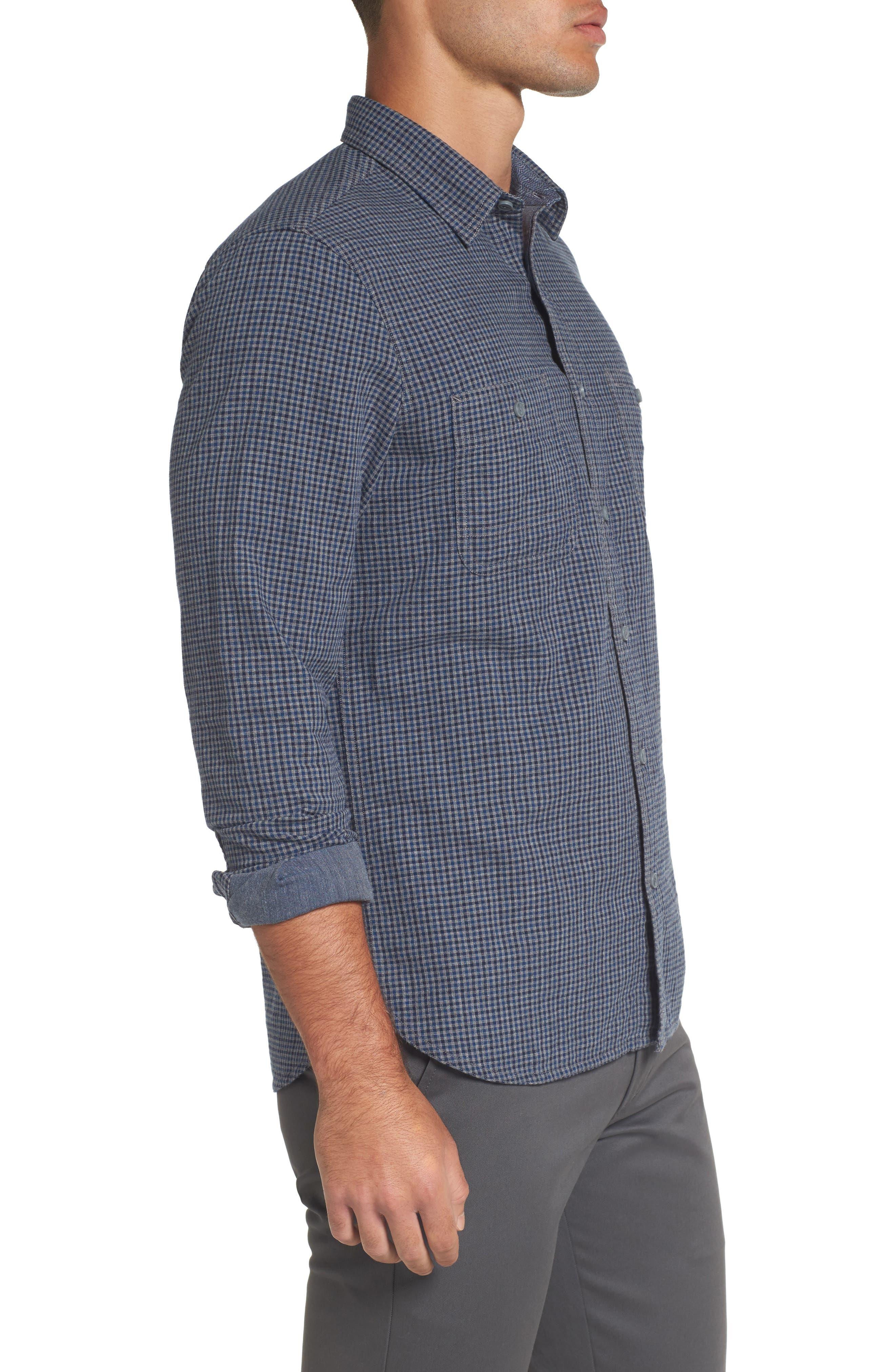 Alternate Image 3  - Nordstrom Men's Shop Slim Fit Micro Check Sport Shirt