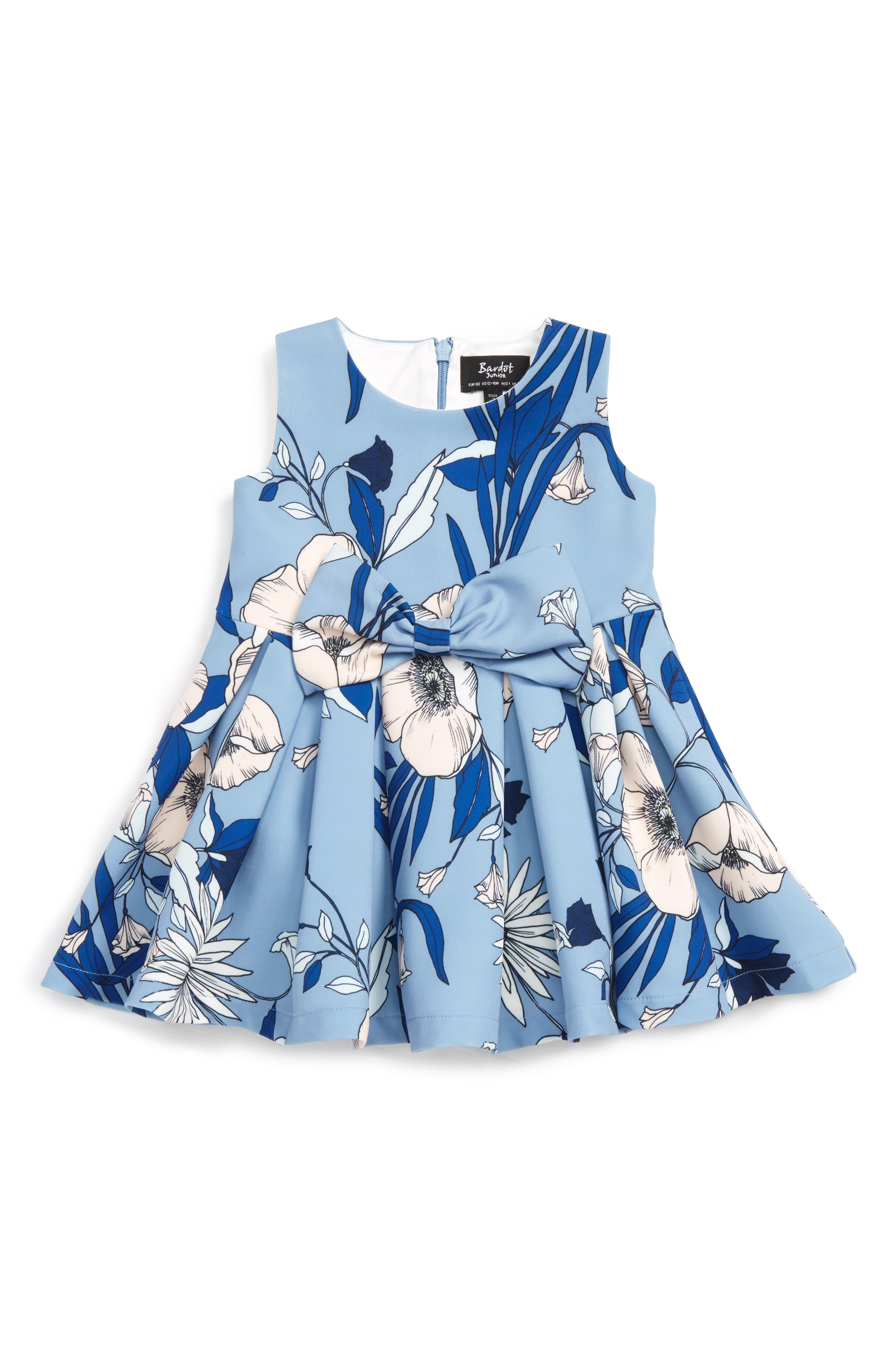 Bardot Junior Maia Floral Bow Dress (Baby Girls & Toddler Girls)