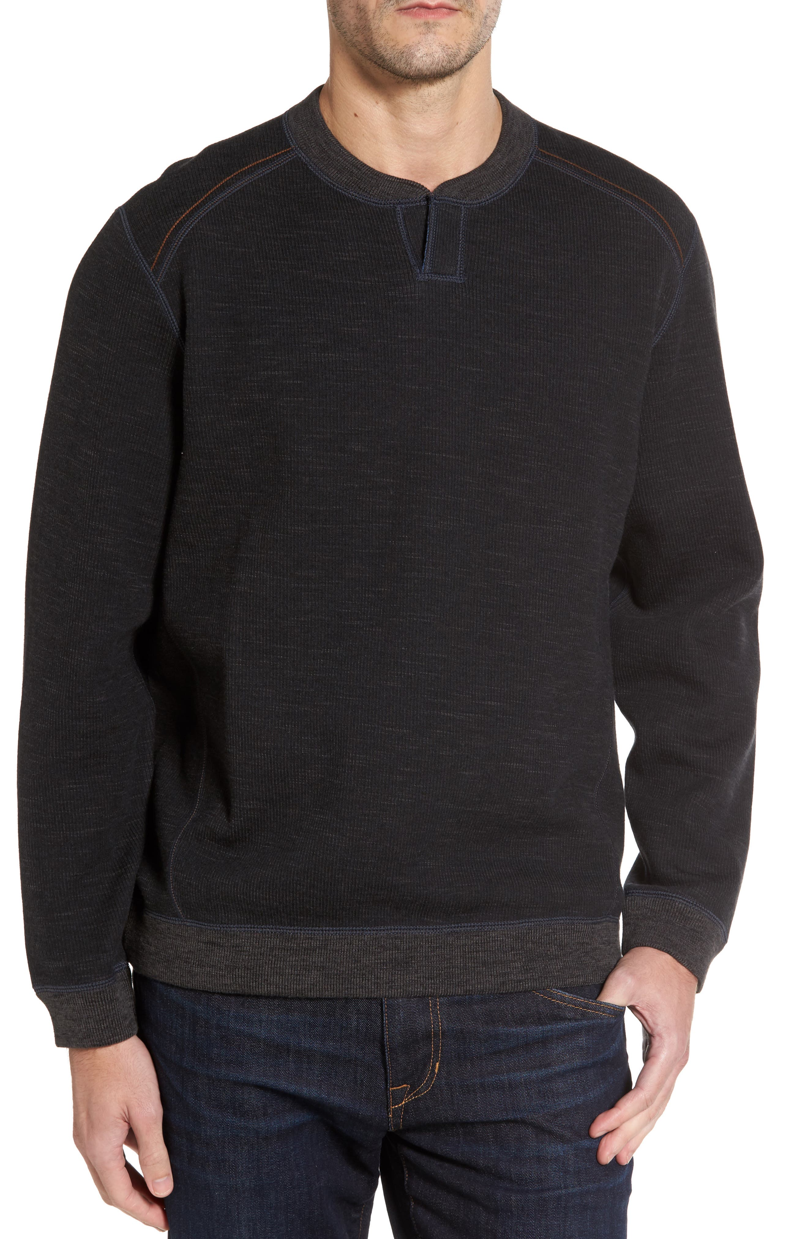 Flipsider Abaco Pullover,                         Main,                         color, Black