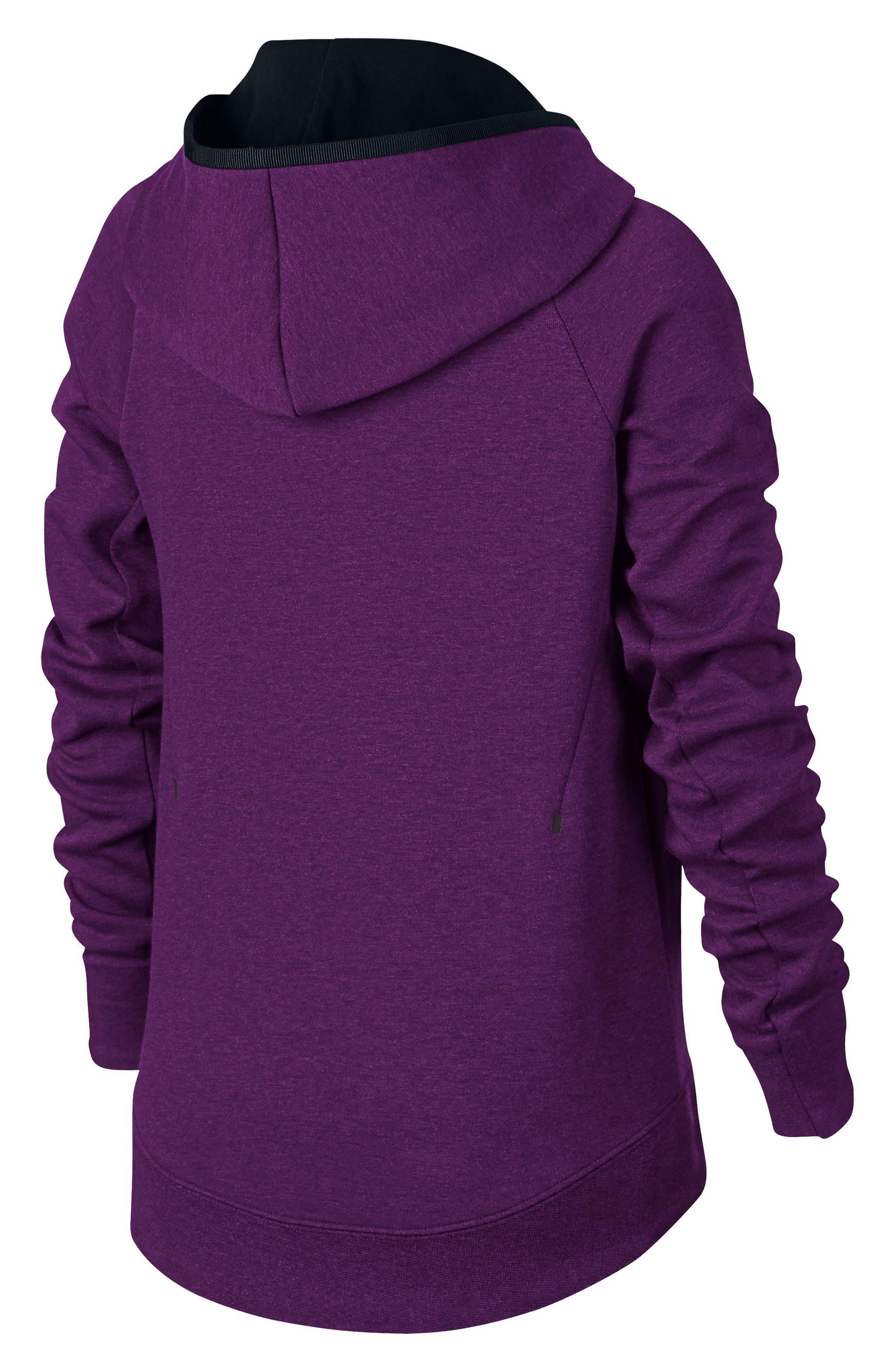 Sportswear Tech Fleece Hoodie,                             Alternate thumbnail 3, color,                             Night Purple/ Black