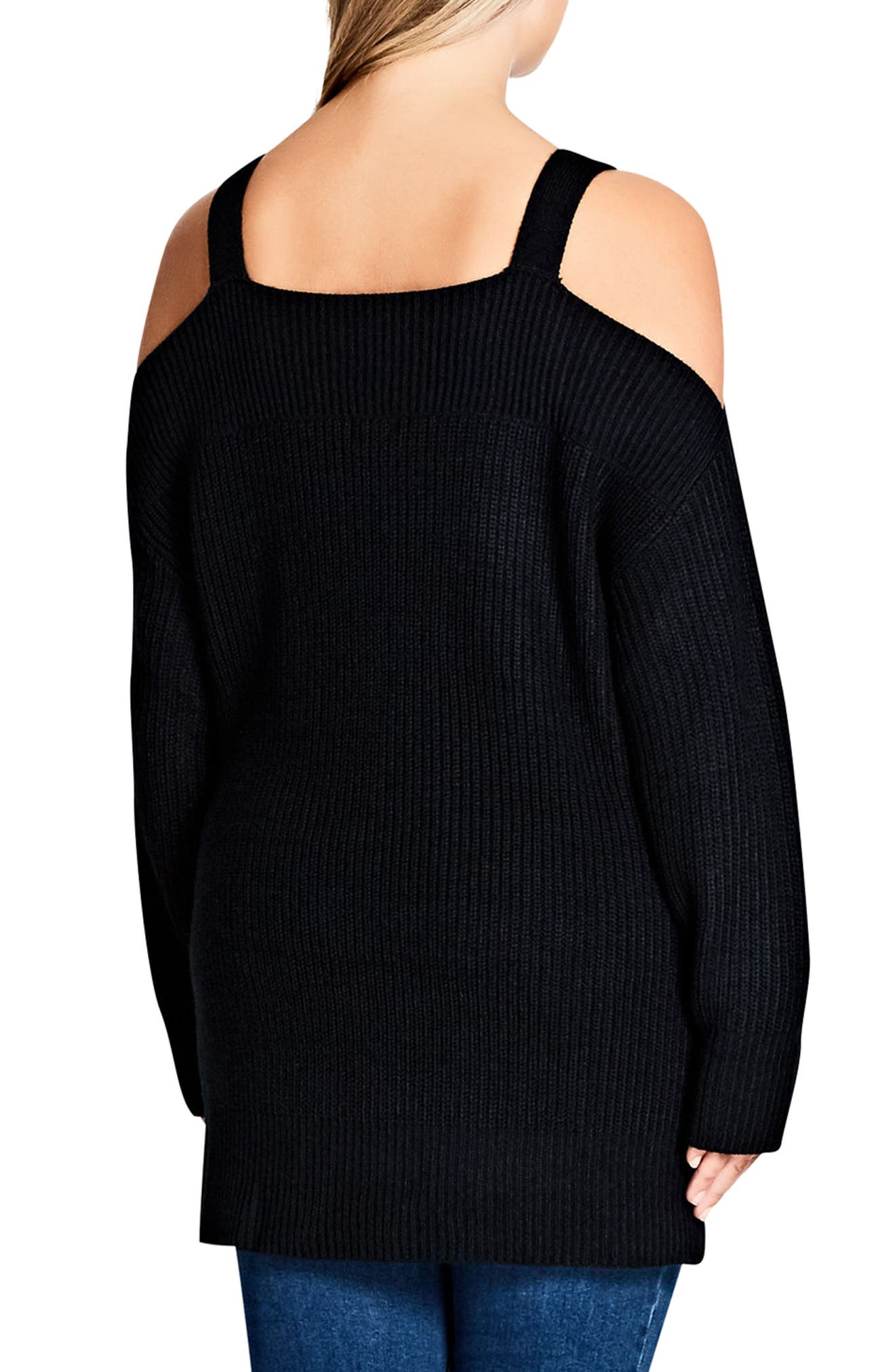 Alternate Image 2  - City Chic Off the Shoulder Sweater (Plus Size)