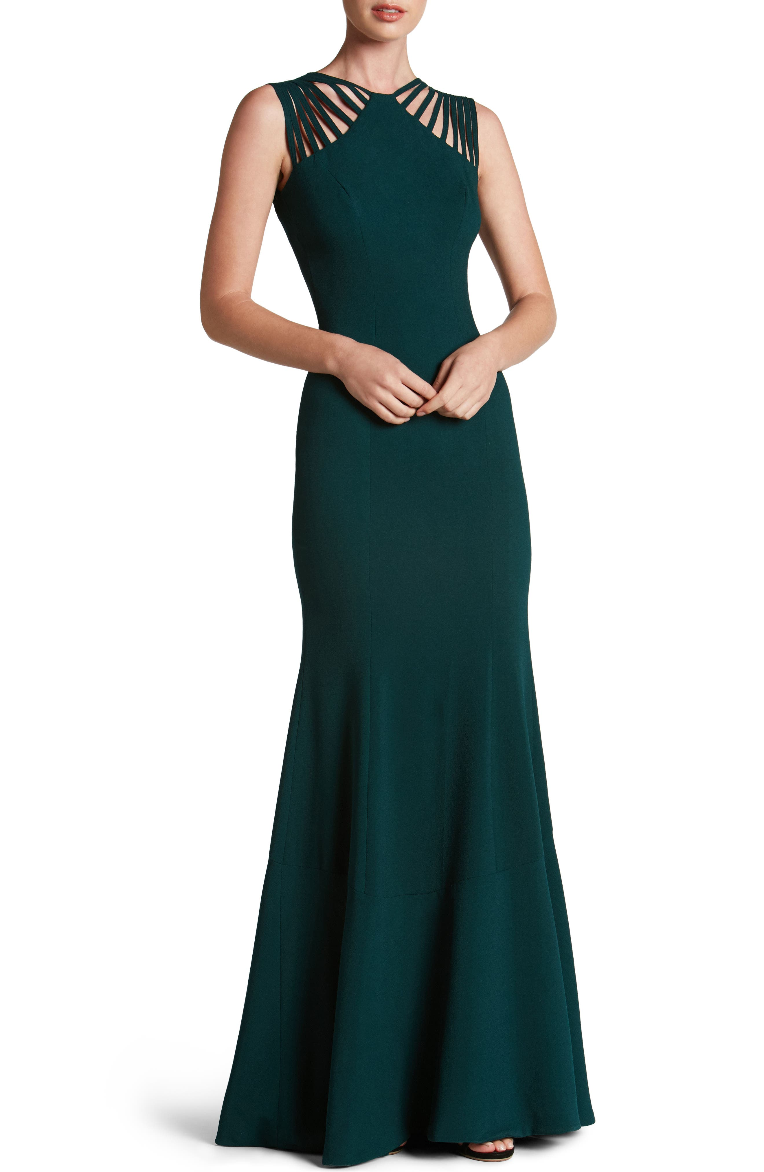Main Image - Dress the Population Harlow Crepe Gown
