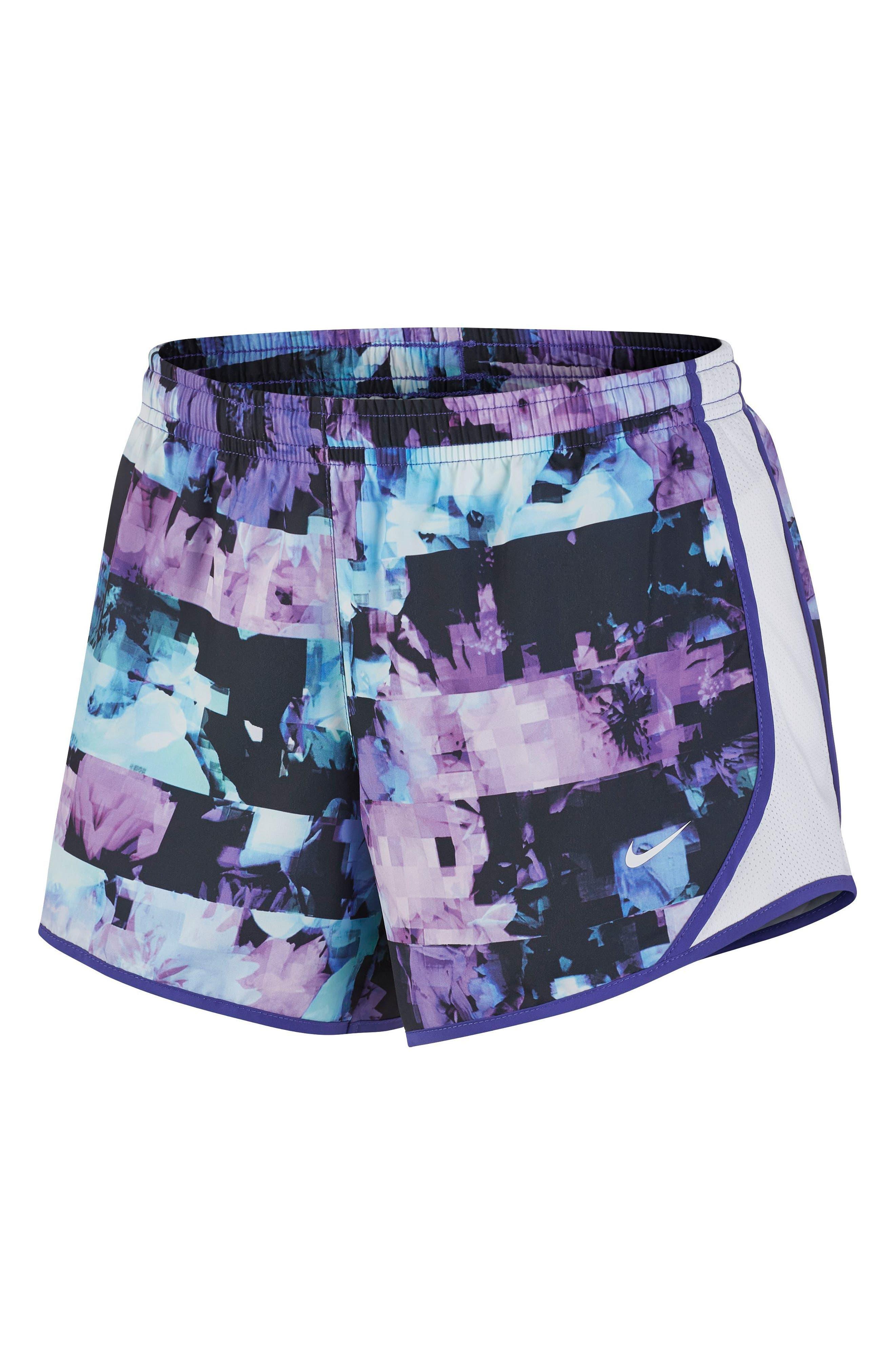 Tempo Dri-FIT Running Shorts,                             Main thumbnail 1, color,                             Persian Violet/ White