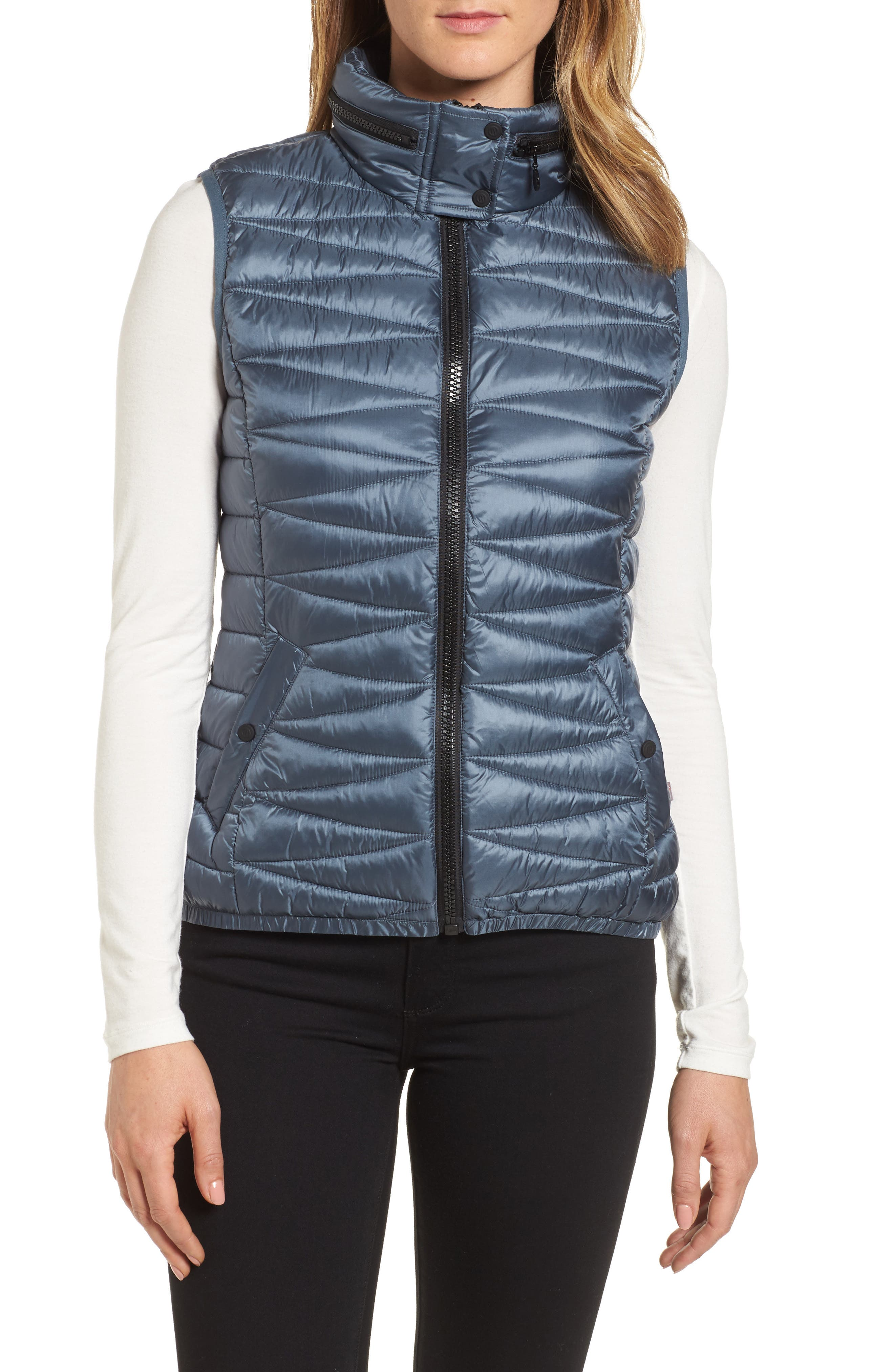 Packable Vest,                         Main,                         color, Ice Cove Indigo