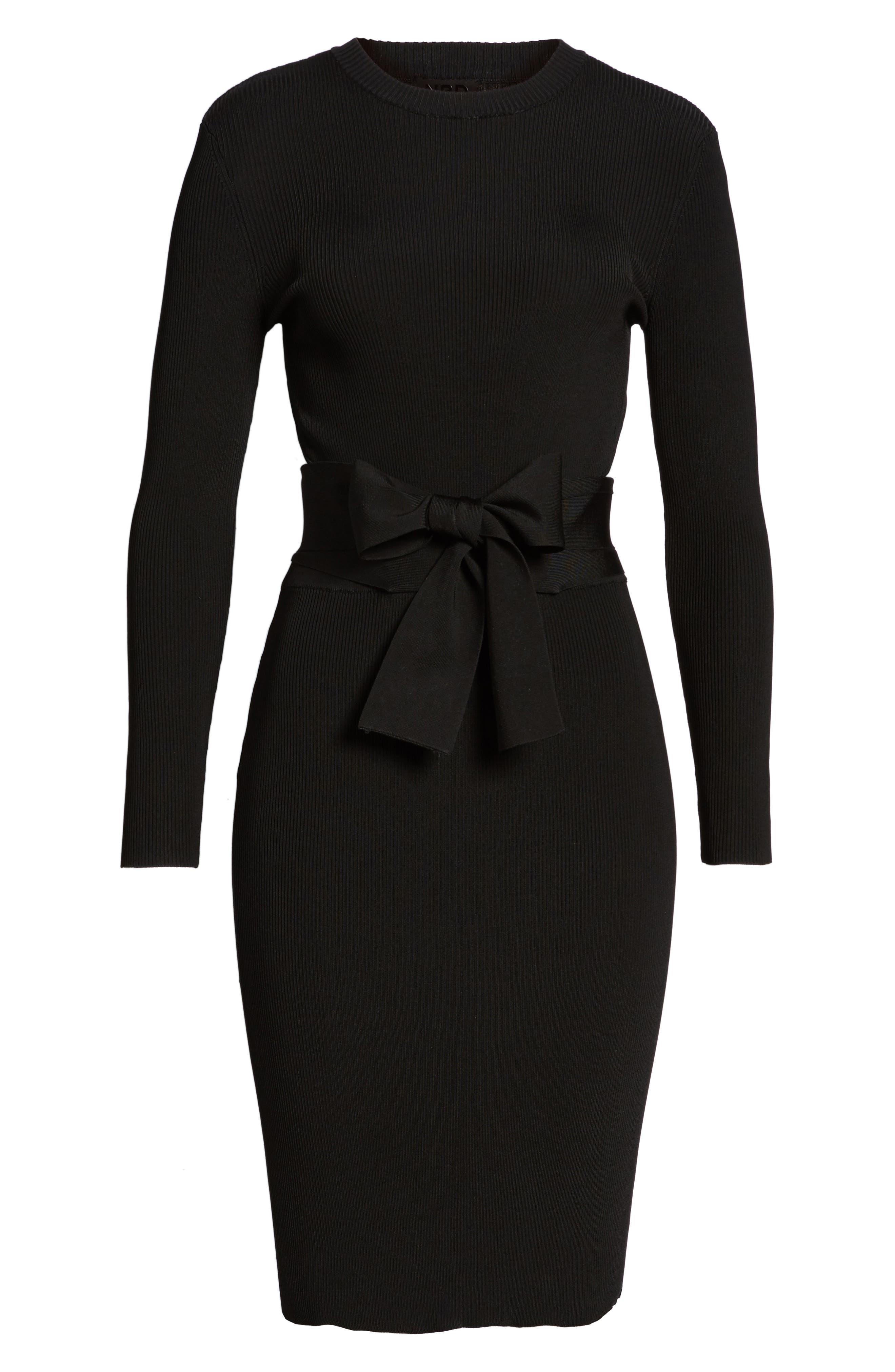 Alternate Image 5  - NBD Desiree Cutout Ribbed Body-Con Dress