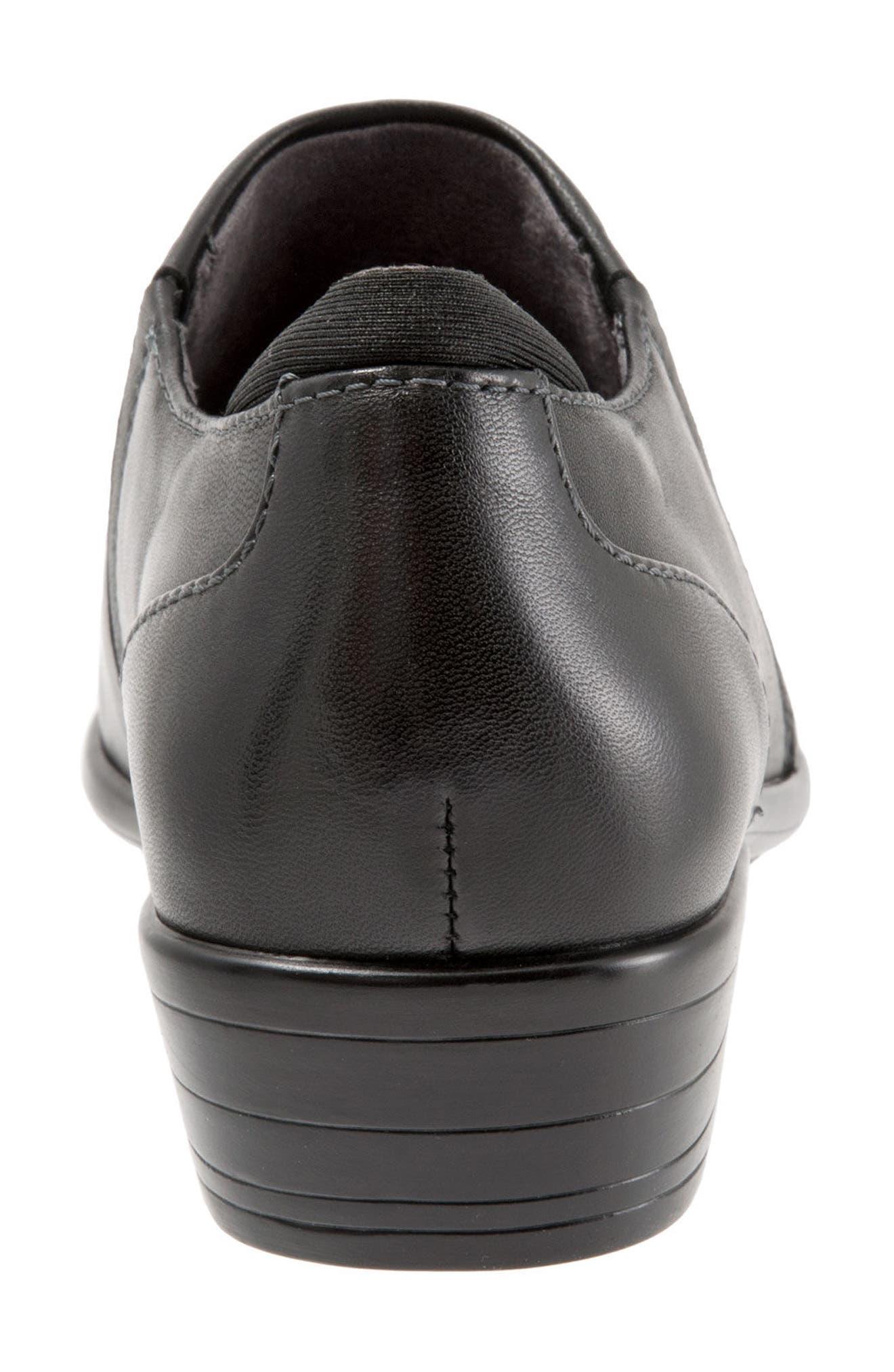 Charming Slip-On,                             Alternate thumbnail 5, color,                             Black Leather