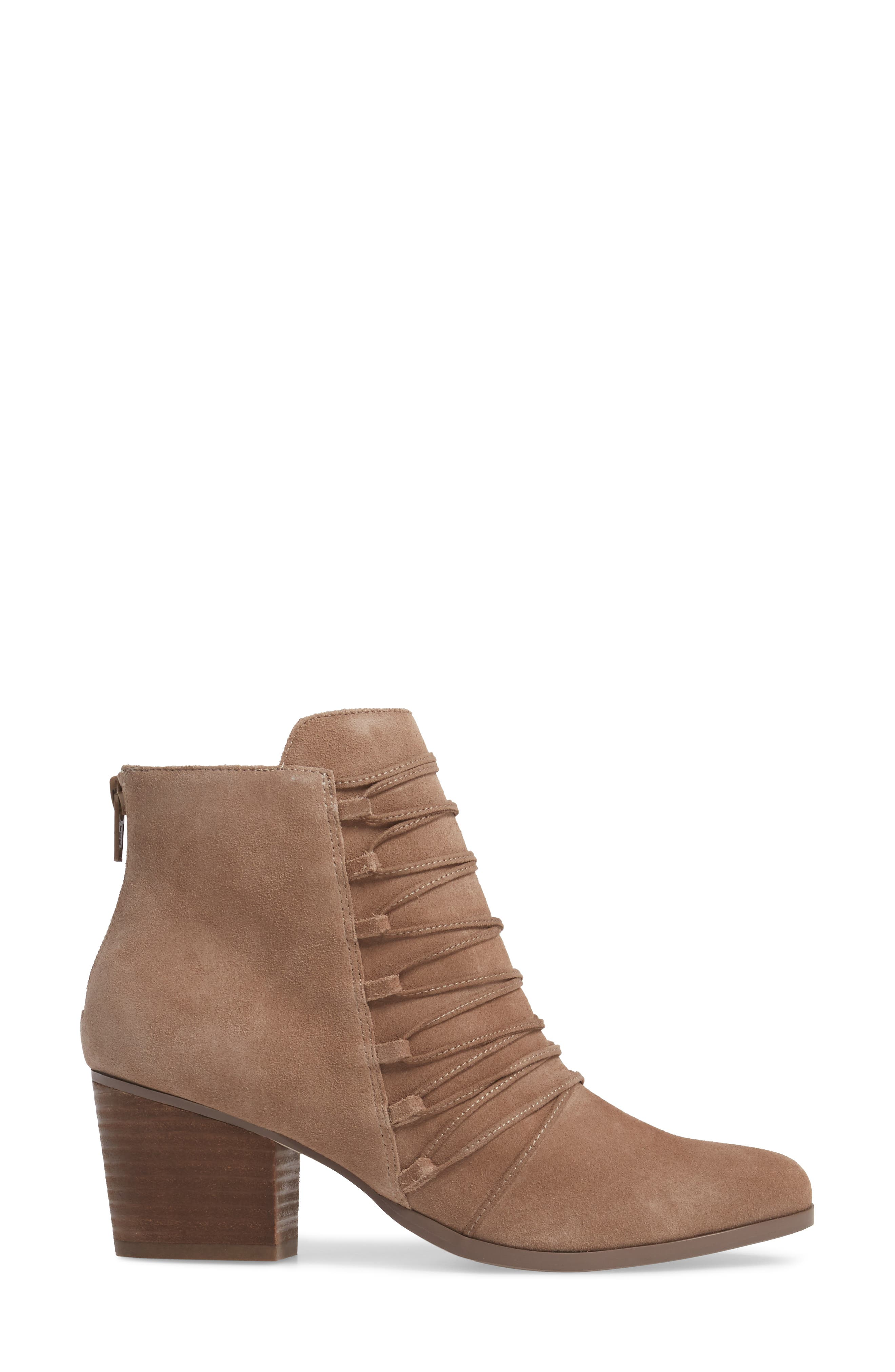 Bellevue Bootie,                             Alternate thumbnail 3, color,                             Night Taupe Suede