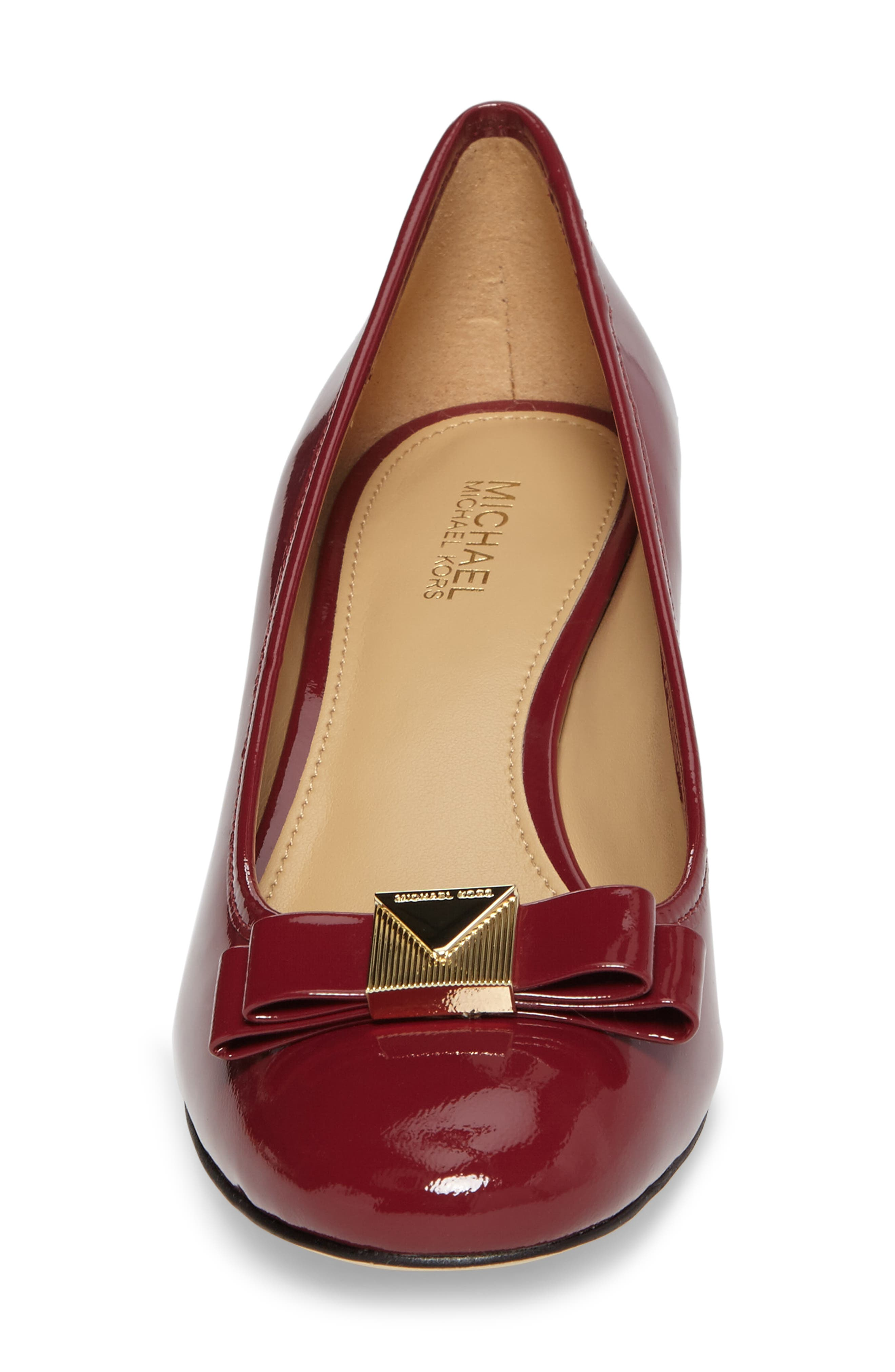 Caroline Pump,                             Alternate thumbnail 4, color,                             Mulberry Patent Leather