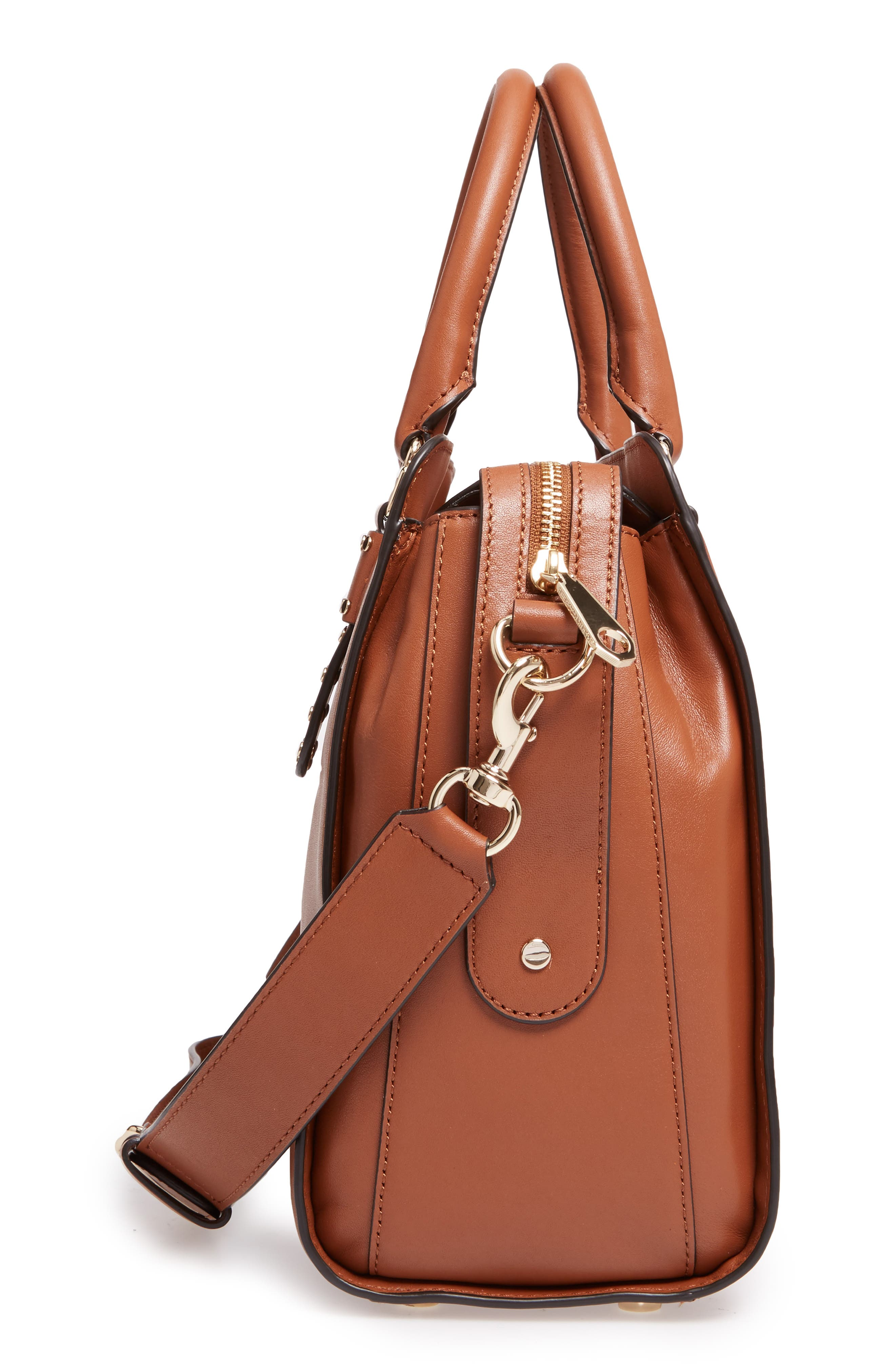 Midnighter Leather Work Tote,                             Alternate thumbnail 5, color,                             Almond