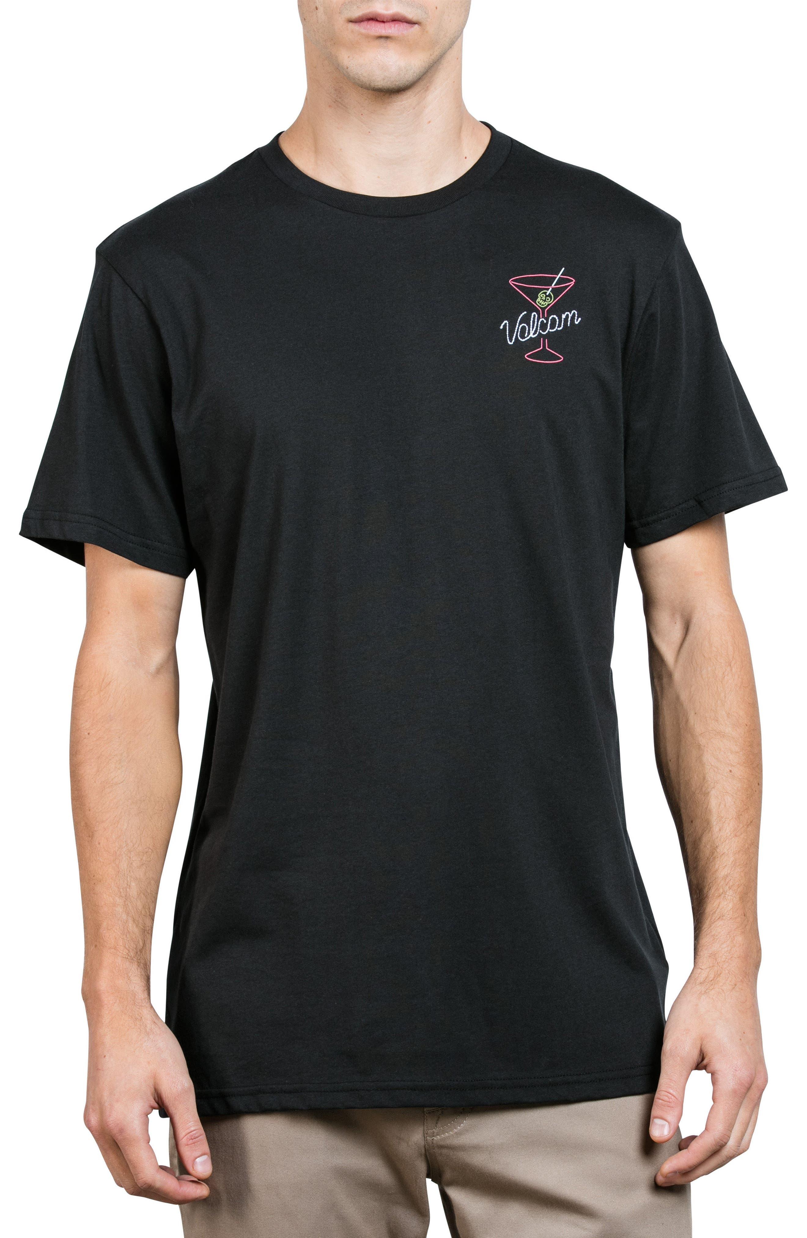 Kneon Nights T-Shirt,                             Main thumbnail 1, color,                             Black
