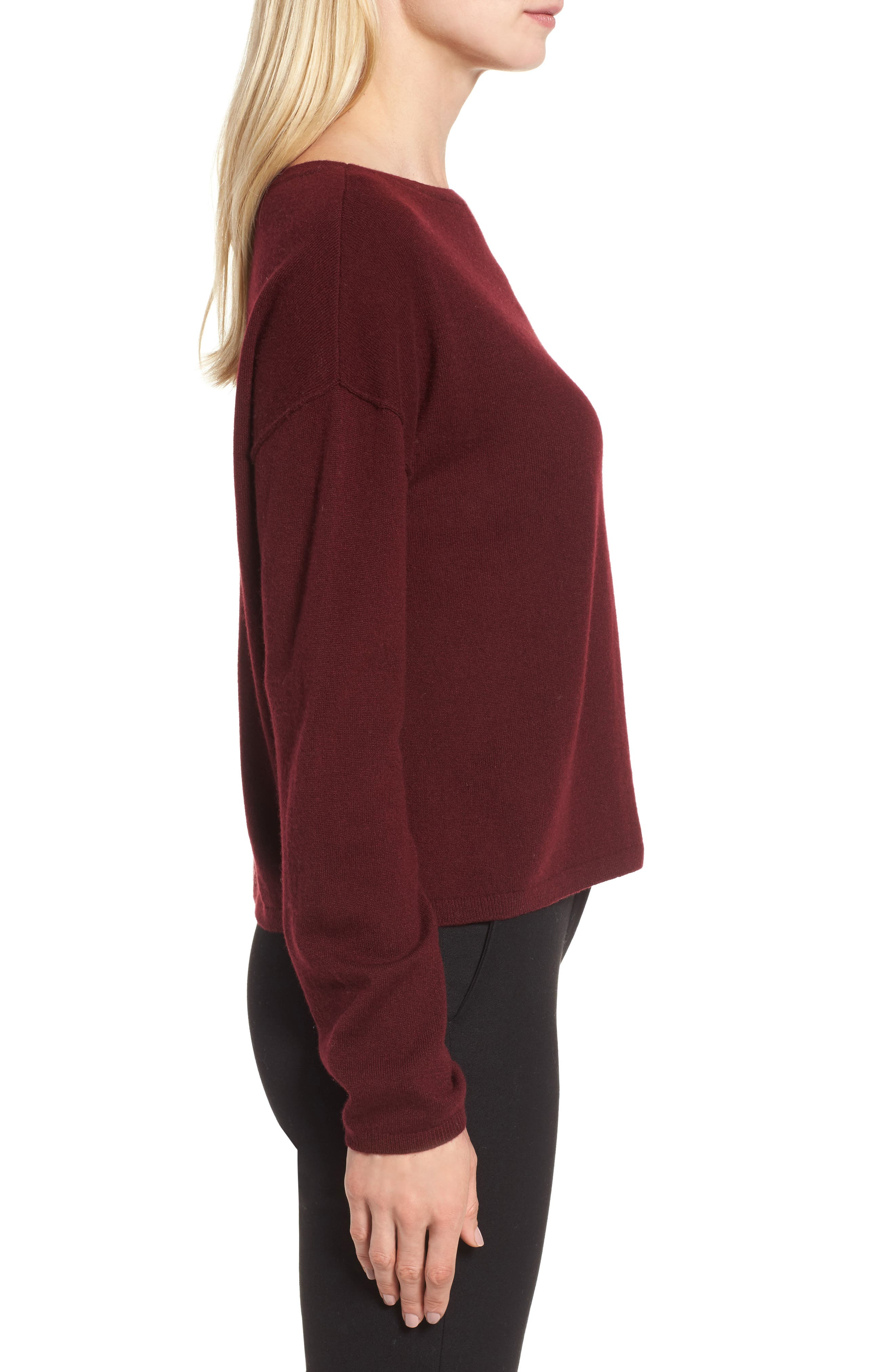Alternate Image 3  - Nordstrom Signature Bateau Neck Cashmere Sweater
