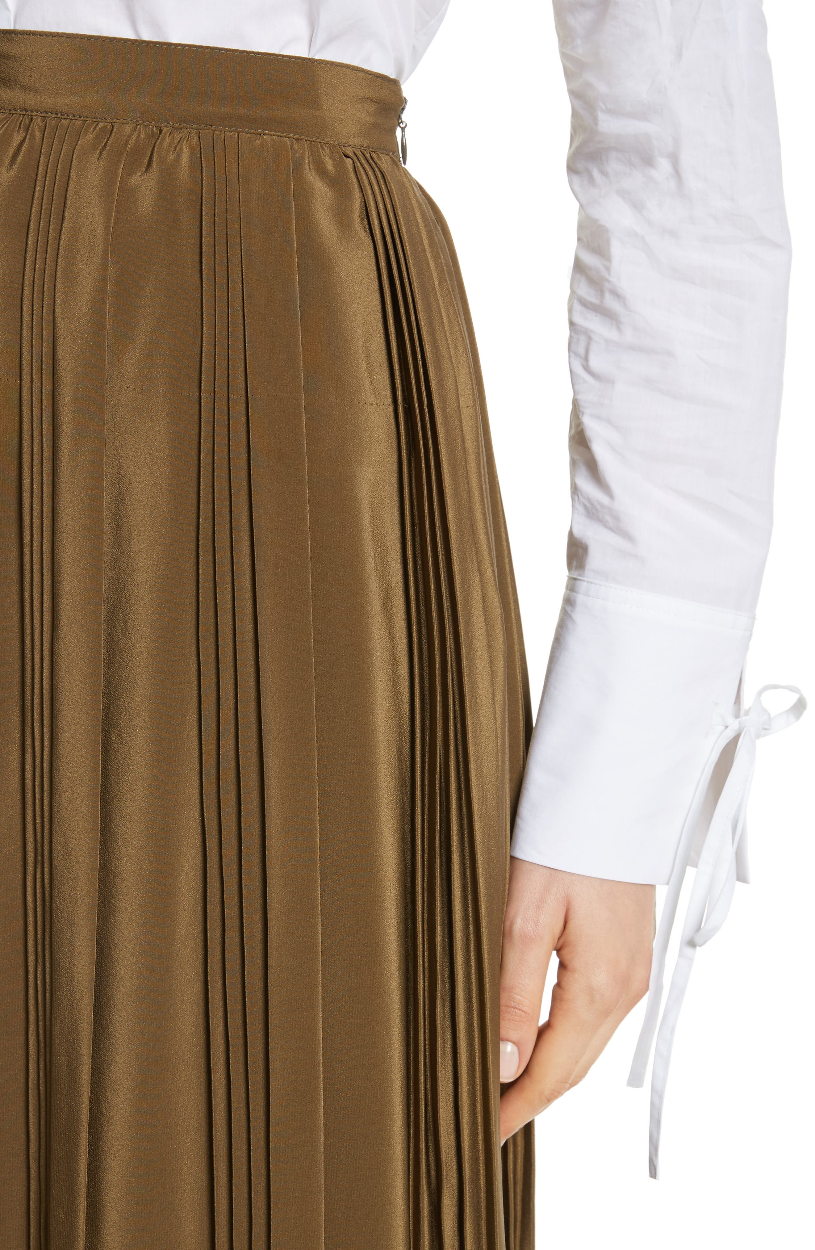 Alternate Image 5  - Robert Rodriguez Pleated Silk Skirt