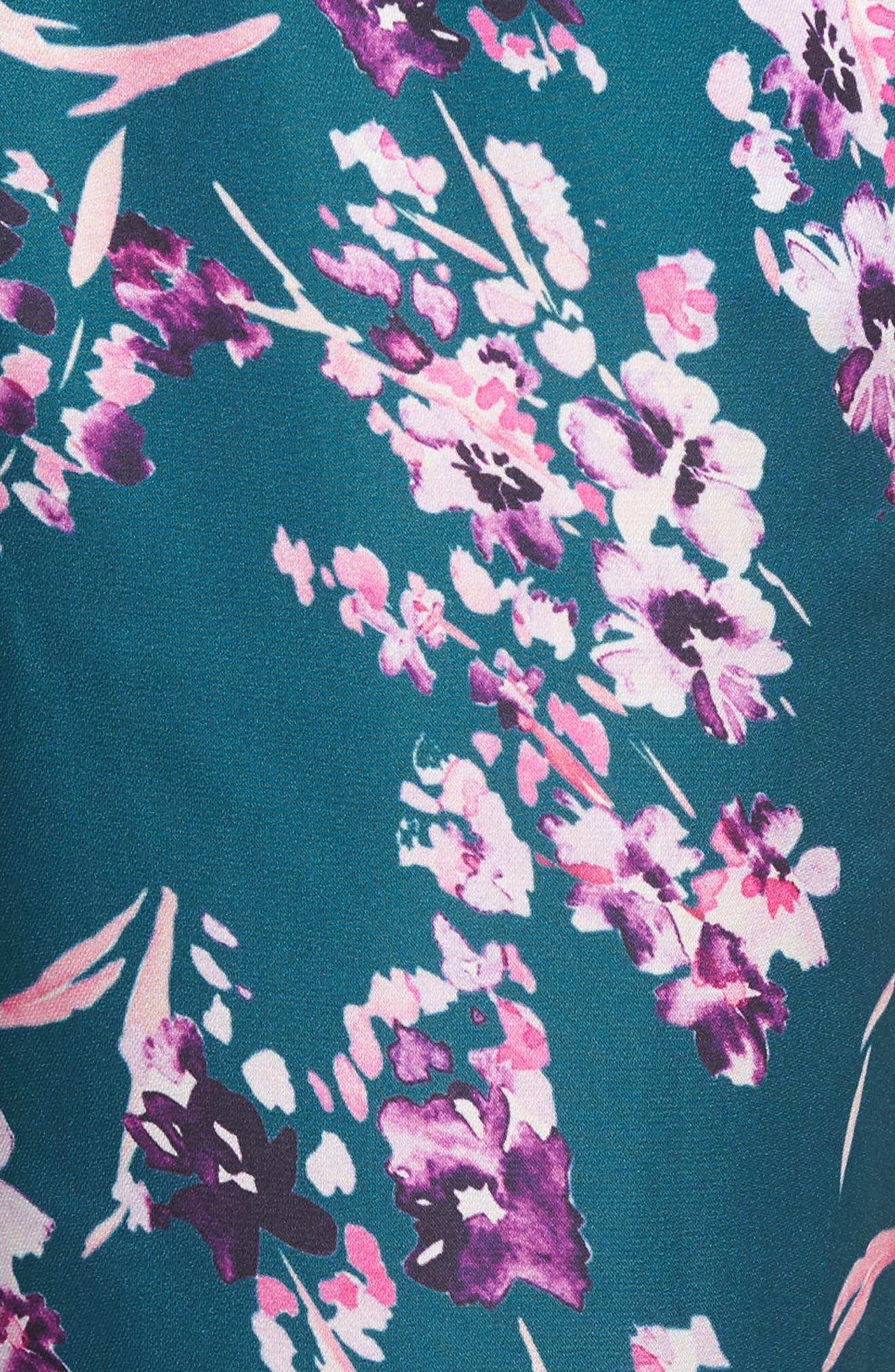Katrina Print Pants,                             Alternate thumbnail 5, color,                             Moroccan Blossom